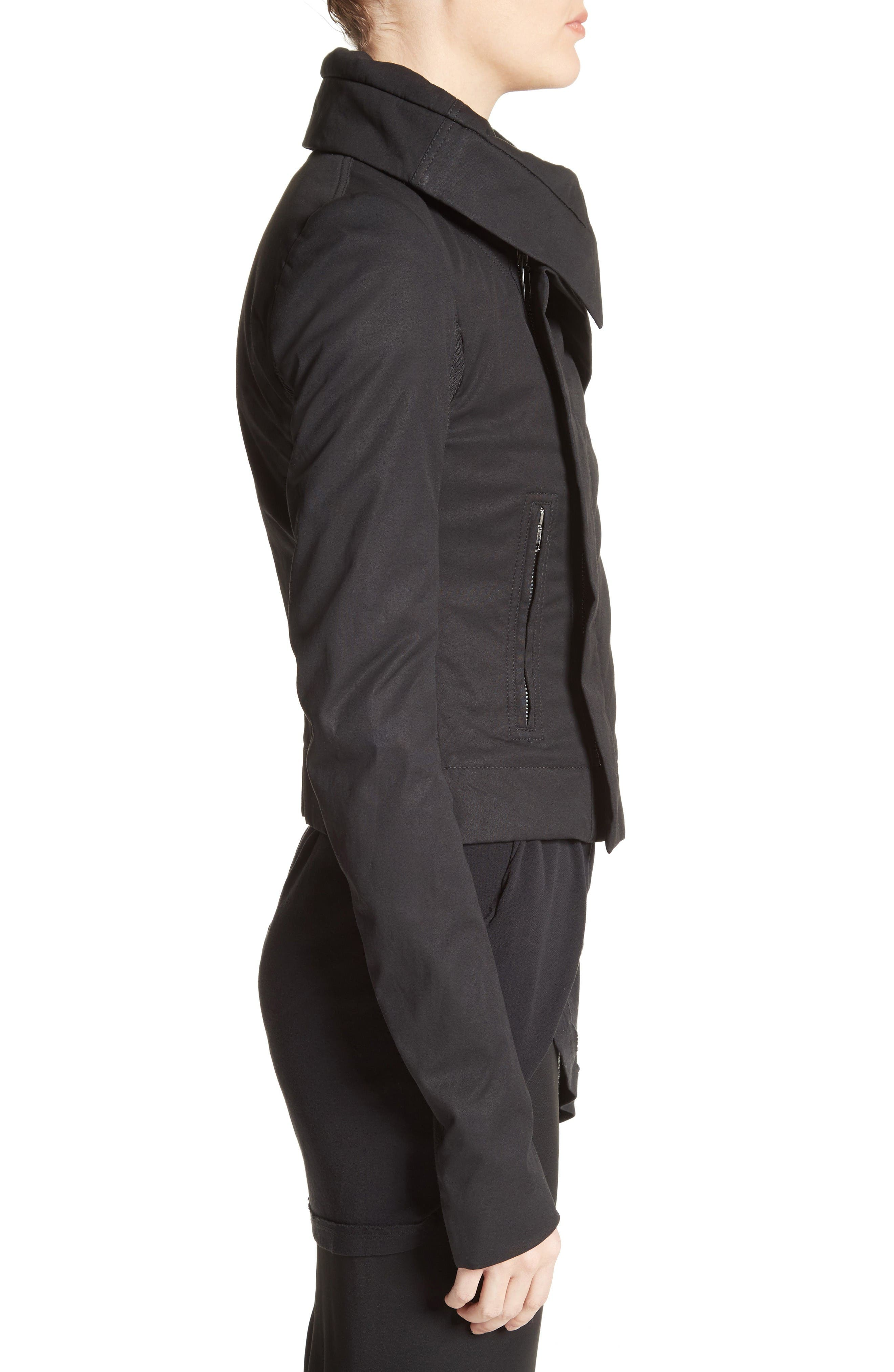 Alternate Image 5  - Rick Owens Stretch Cotton Biker Jacket