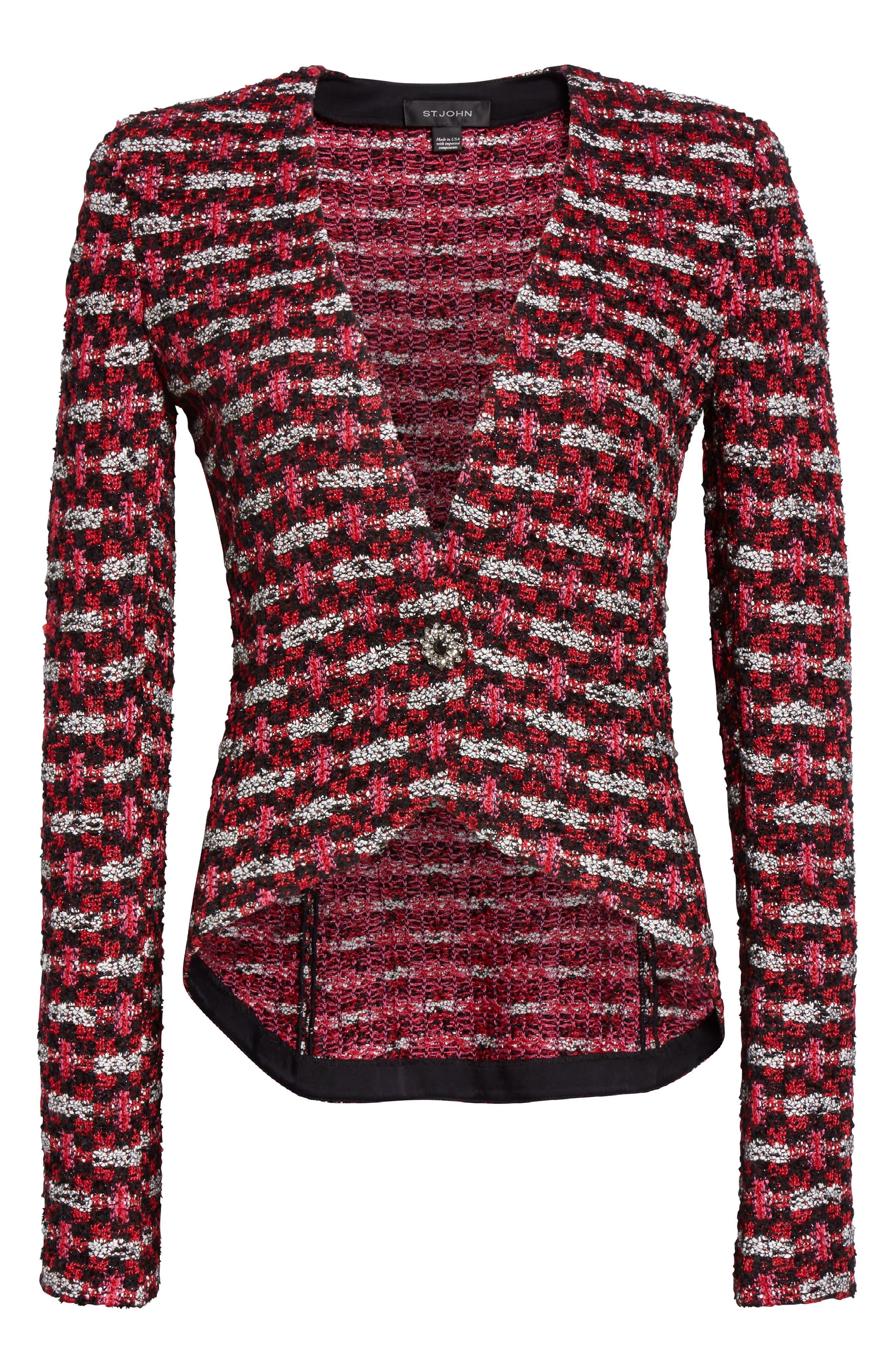 Alternate Image 6  - St. John Collection Hiran Tweed Knit Jacket