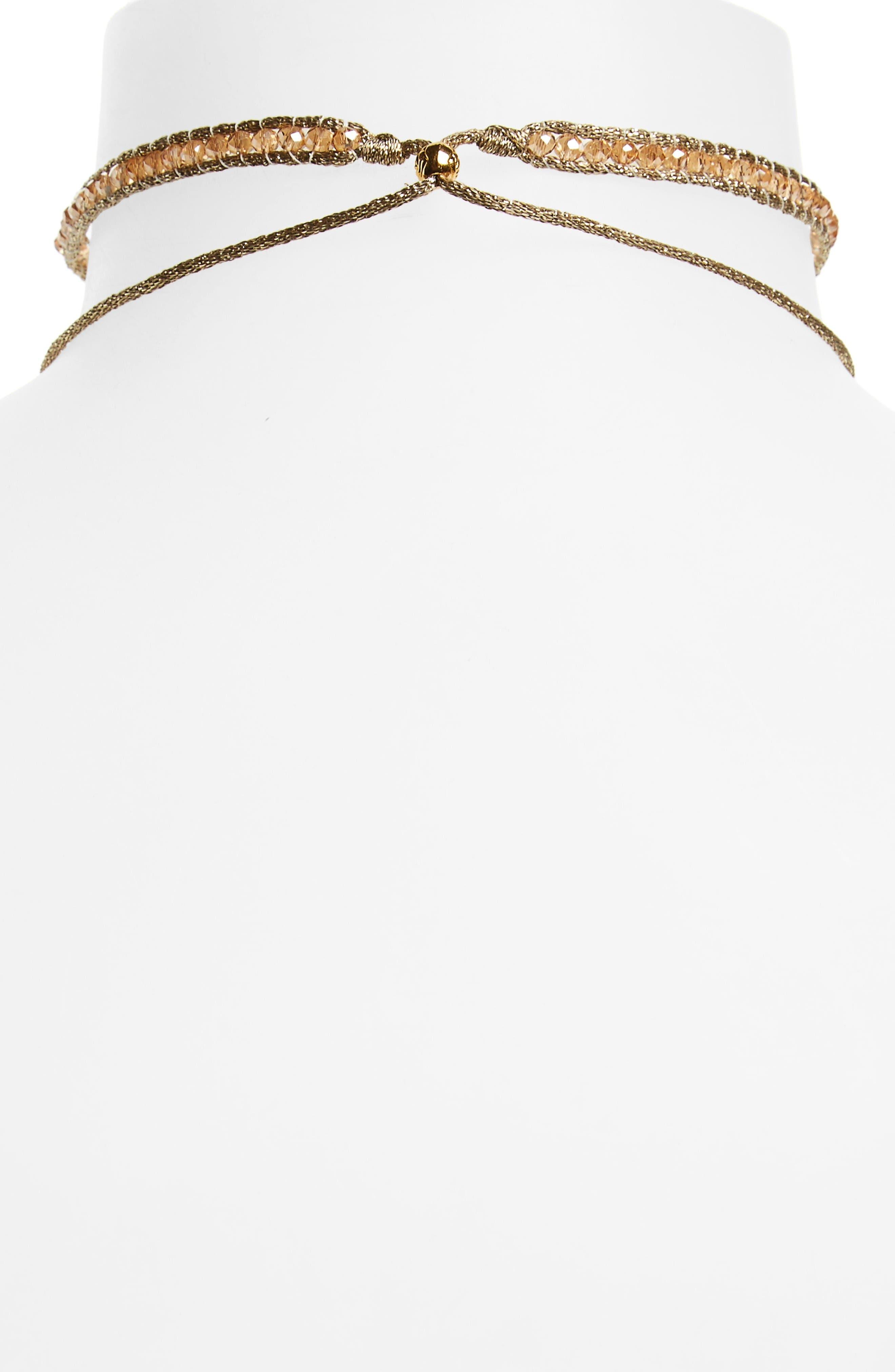 Alternate Image 2  - Chan Luu Sunflower Crystal Lariat Necklace