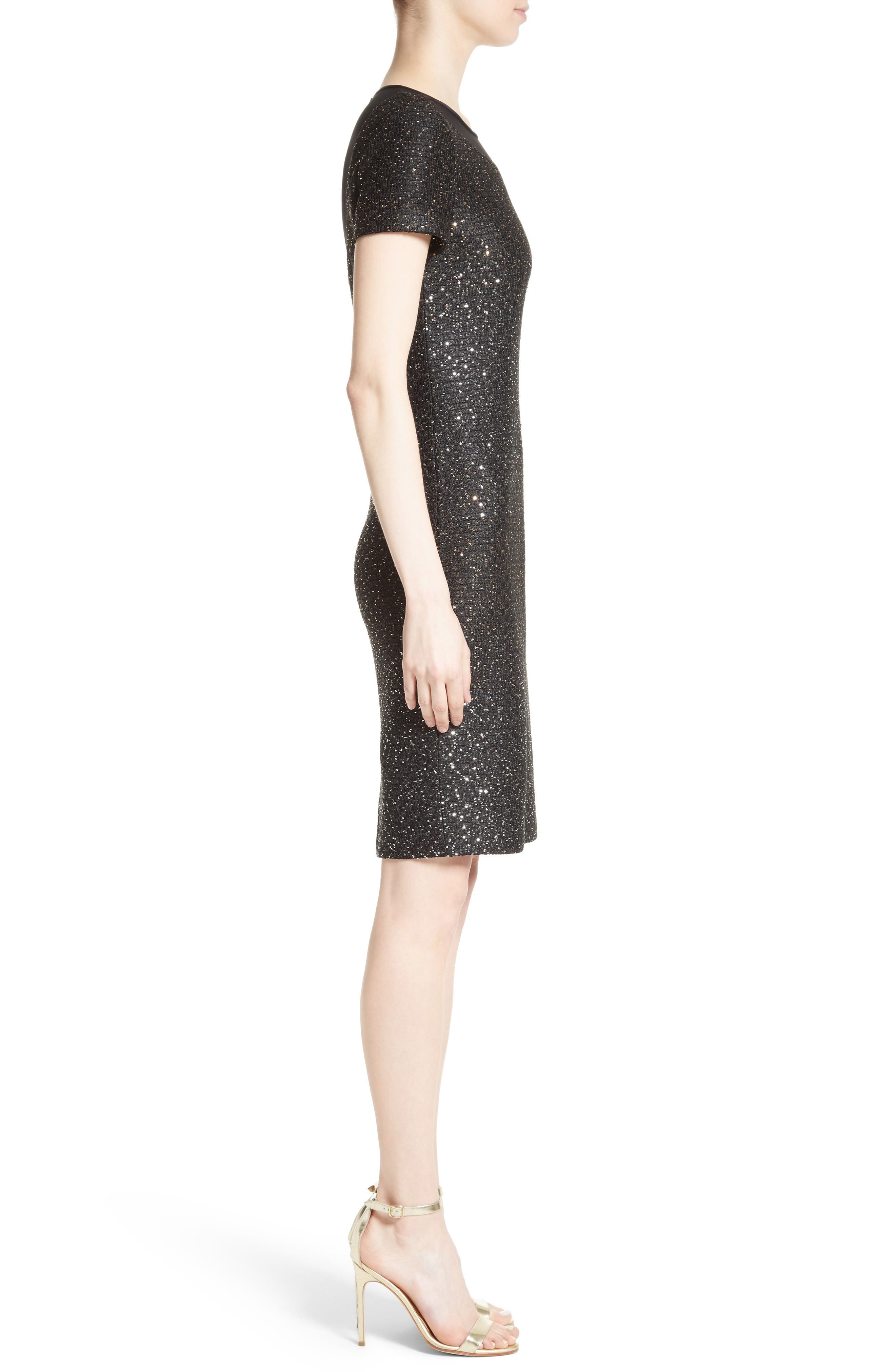 Alternate Image 3  - St. John Collection Pranay Sequin Knit Sheath Dress