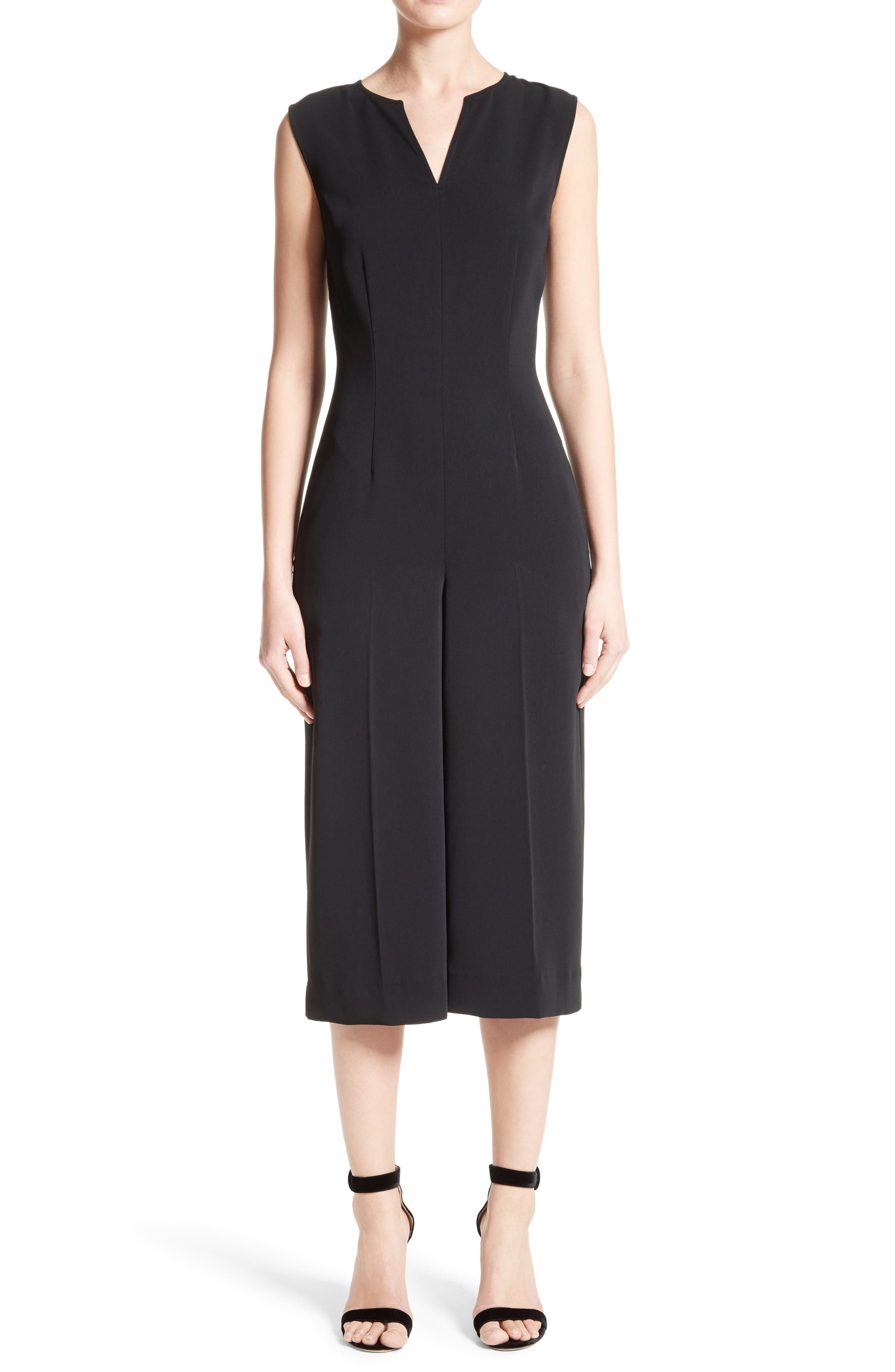 Main Image - St. John Collection Classic Stretch Cady Jumpsuit