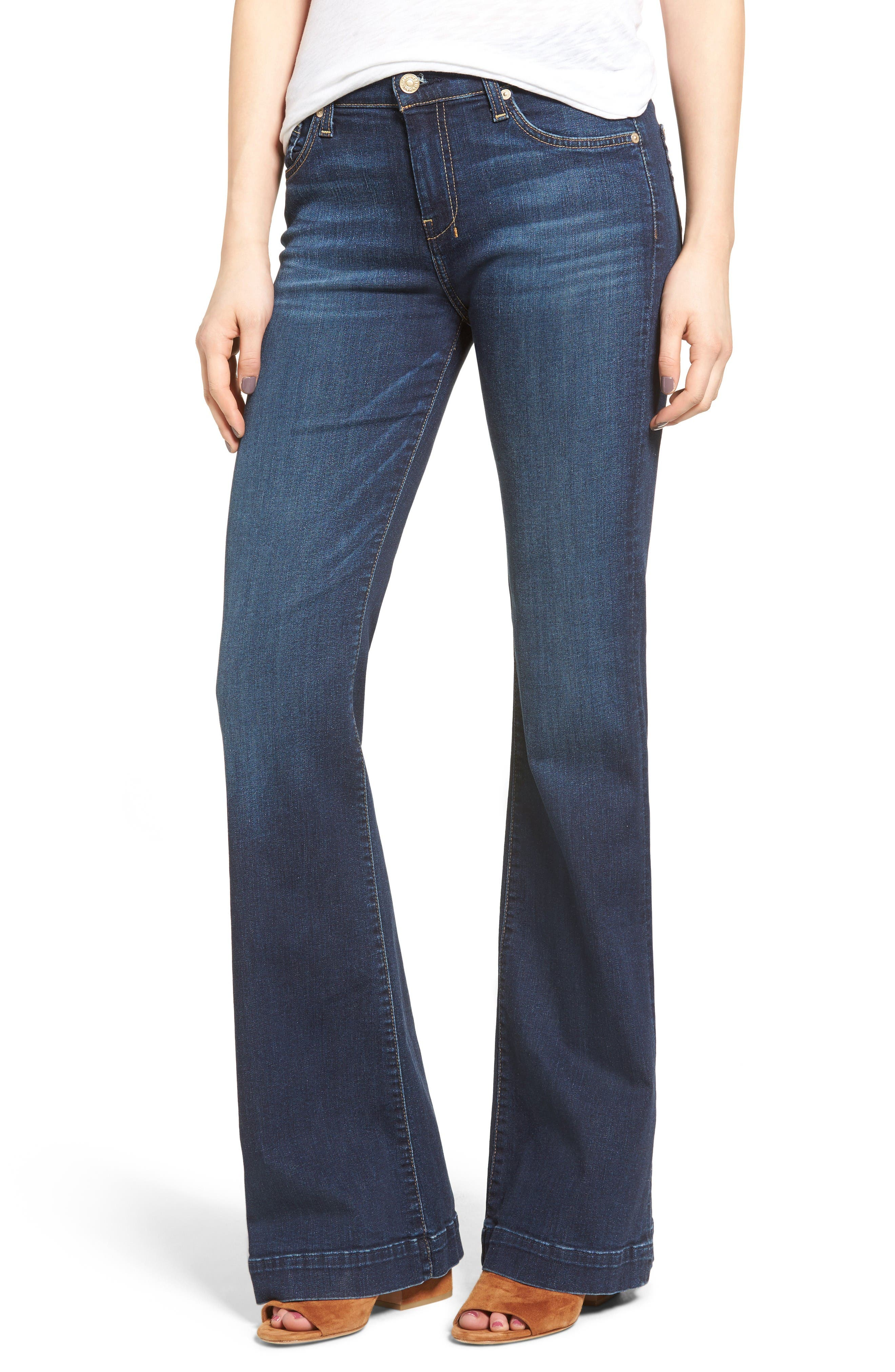 7 For All Mankind® Dojo High Waist Wide Leg Jeans (Santiago Canyon)