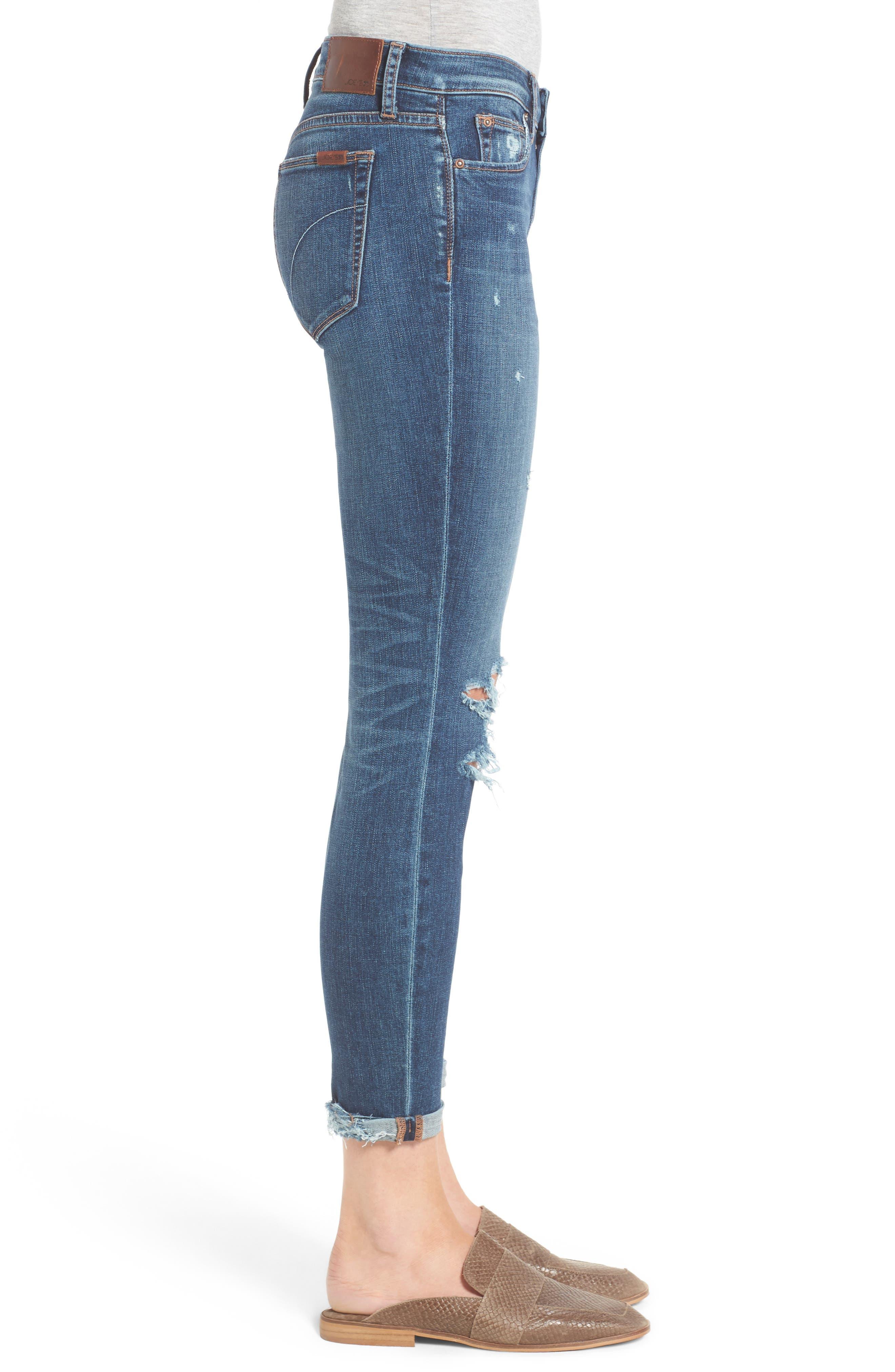 Andie Skinny Crop Jeans,                             Alternate thumbnail 3, color,                             Giada
