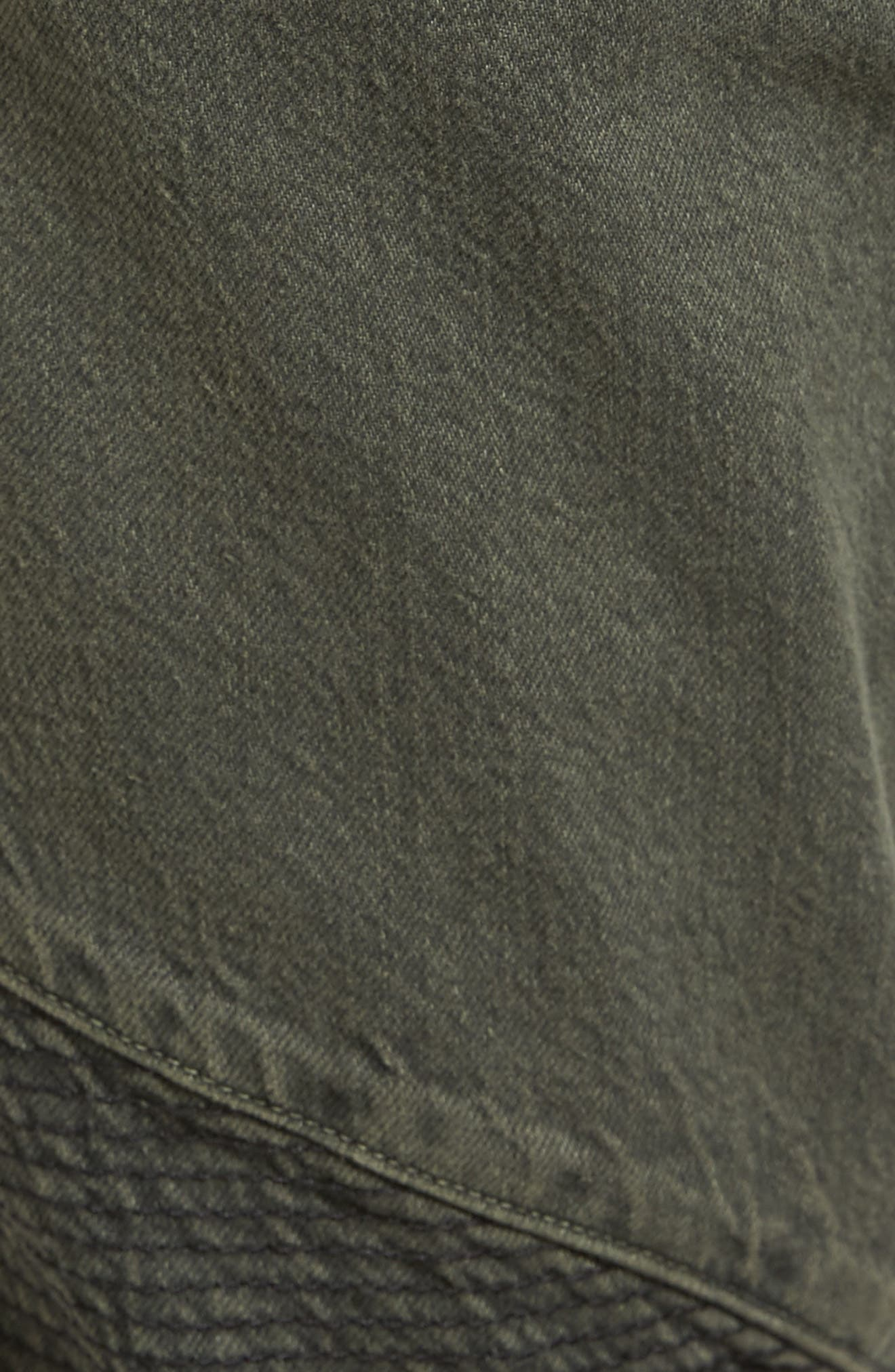 Blinder Biker Skinny Fit Jeans,                             Alternate thumbnail 5, color,                             Fortitude Green