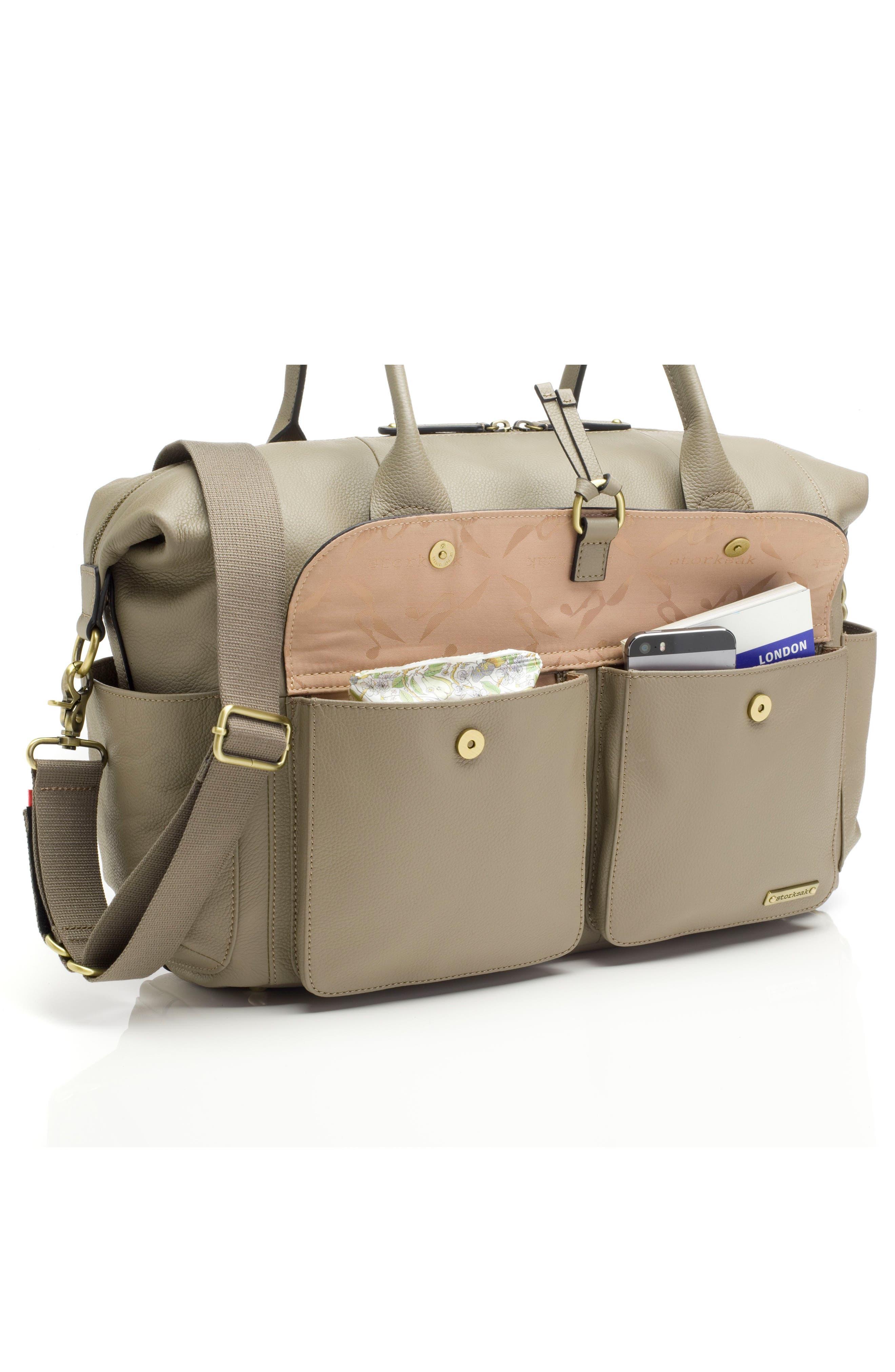 Alternate Image 6  - Storsak Leather Diaper Bag