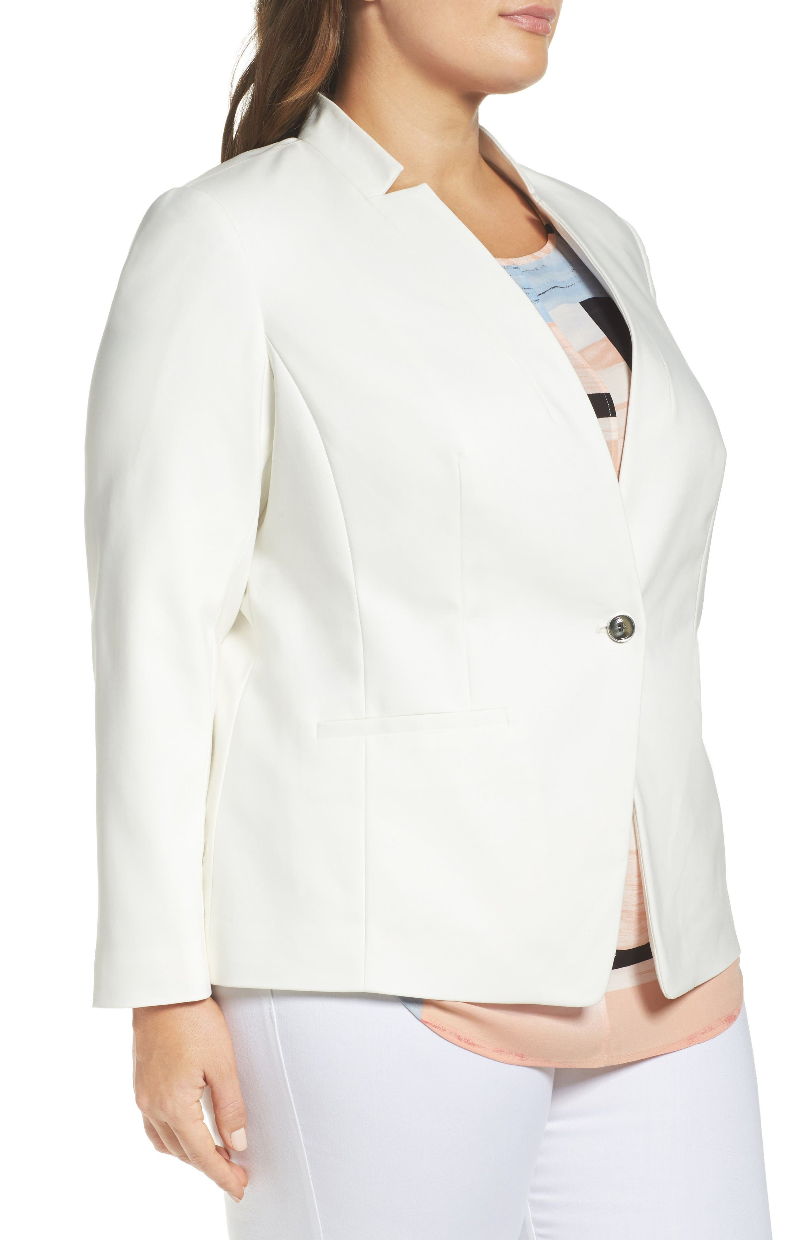 Alternate Image 3  - Vince Camuto One-Button Blazer (Plus Size)