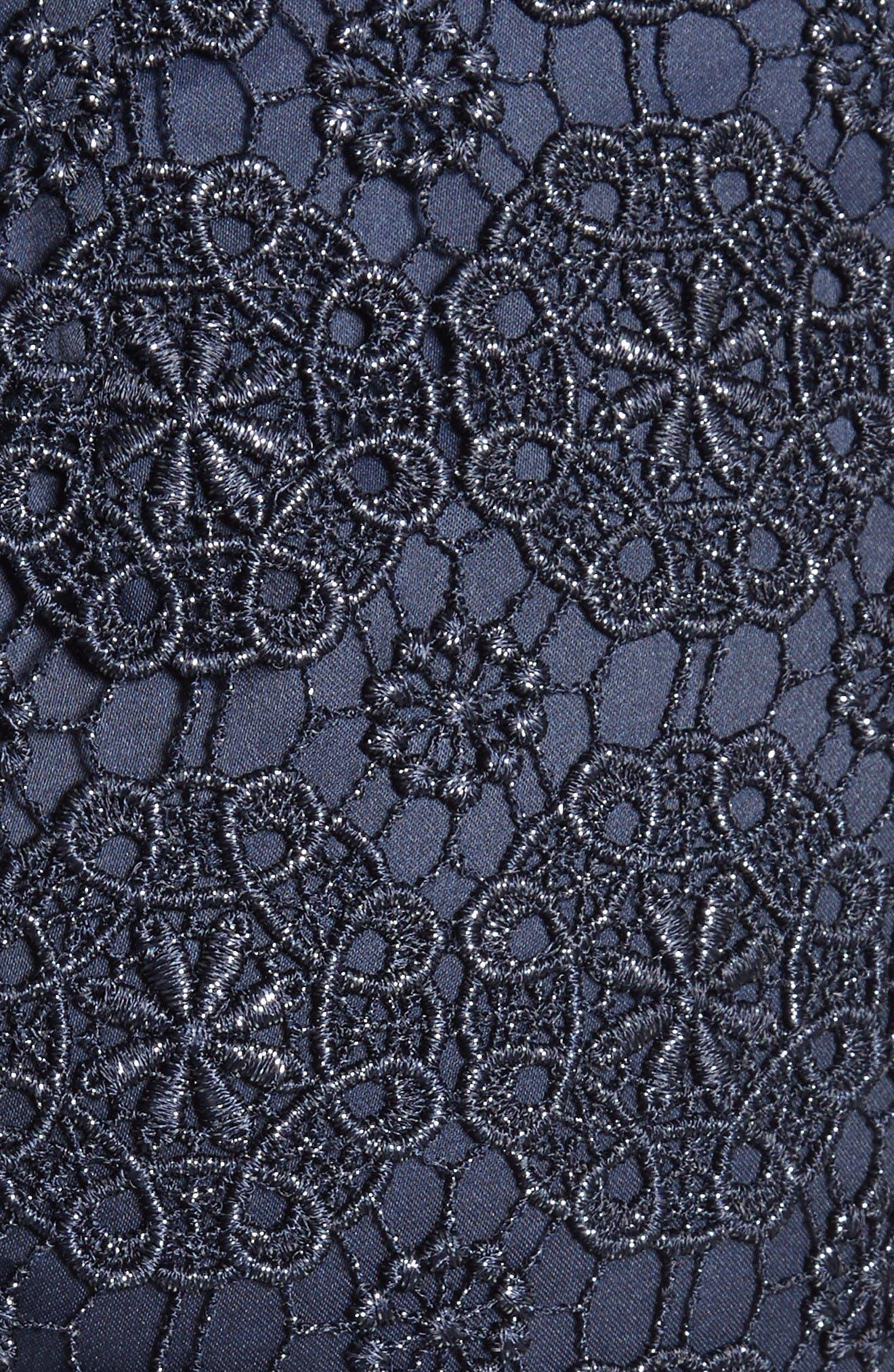 Alternate Image 5  - St. John Collection Metallic Guipure Lace Skirt