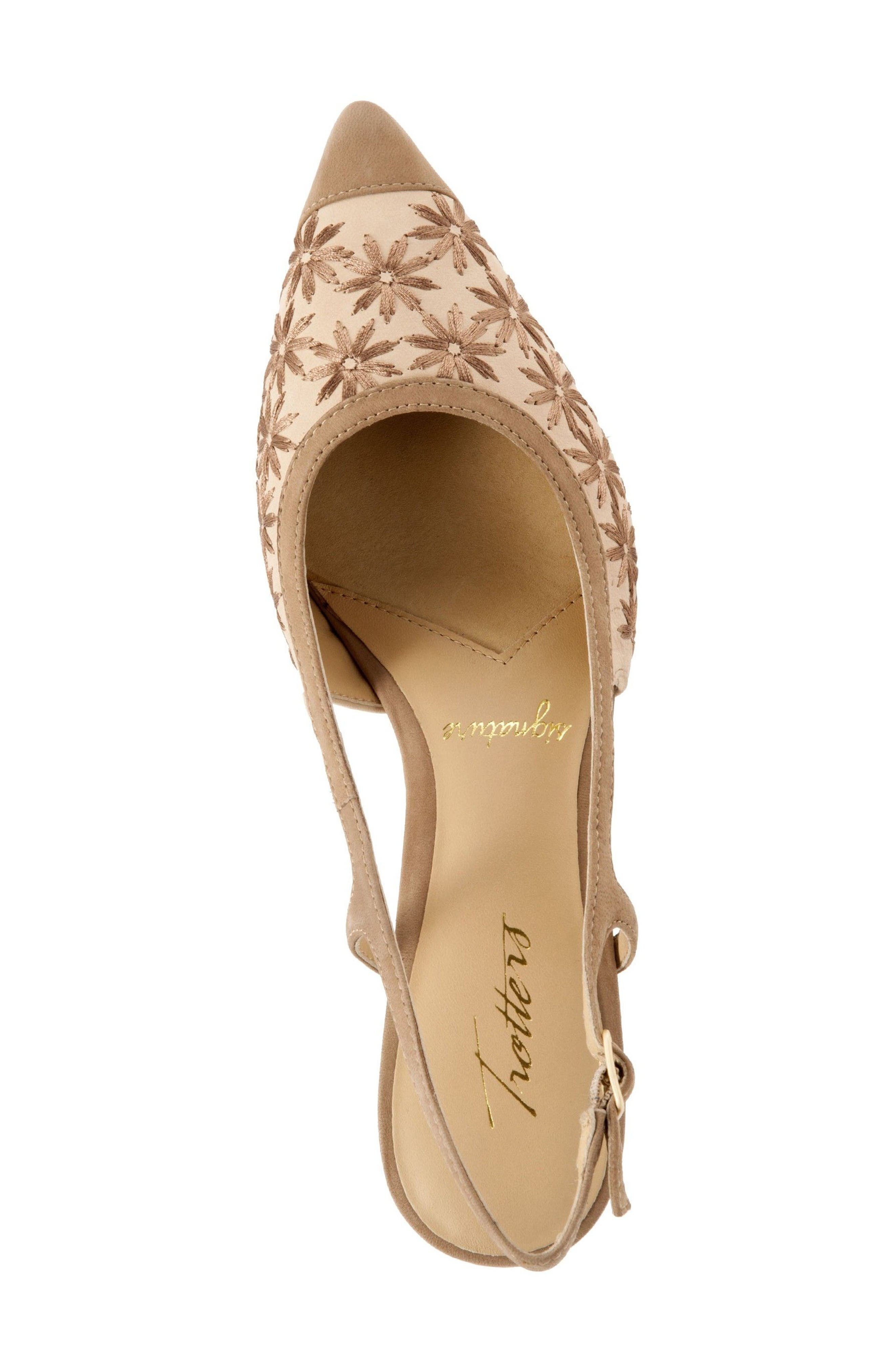 'Kimberly' Woven Leather Slingback Pump,                             Alternate thumbnail 3, color,                             Dark Tan/ Sand/ Bronze Leather