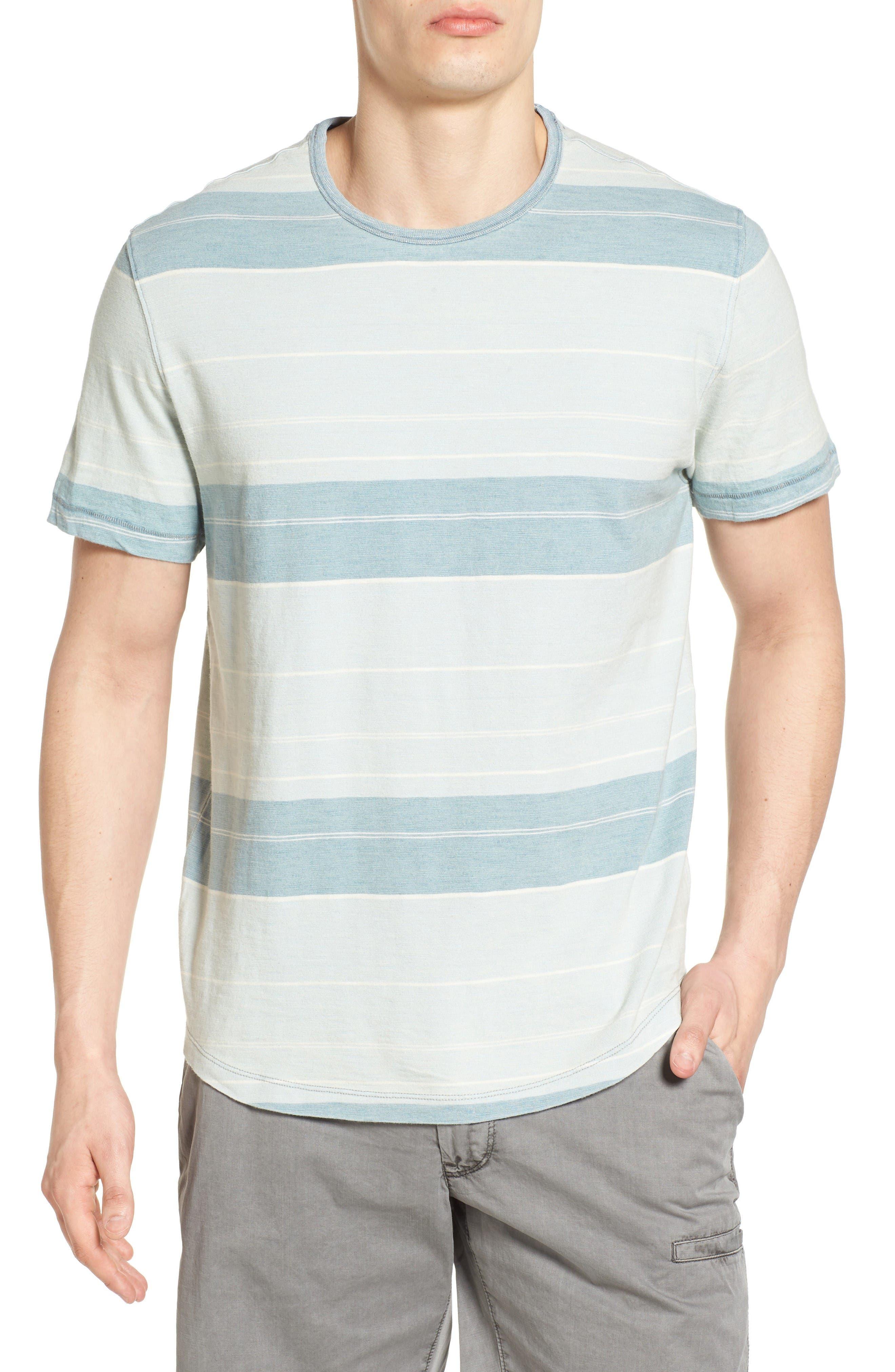 Jeremiah Tully Indigo Stripe T-Shirt