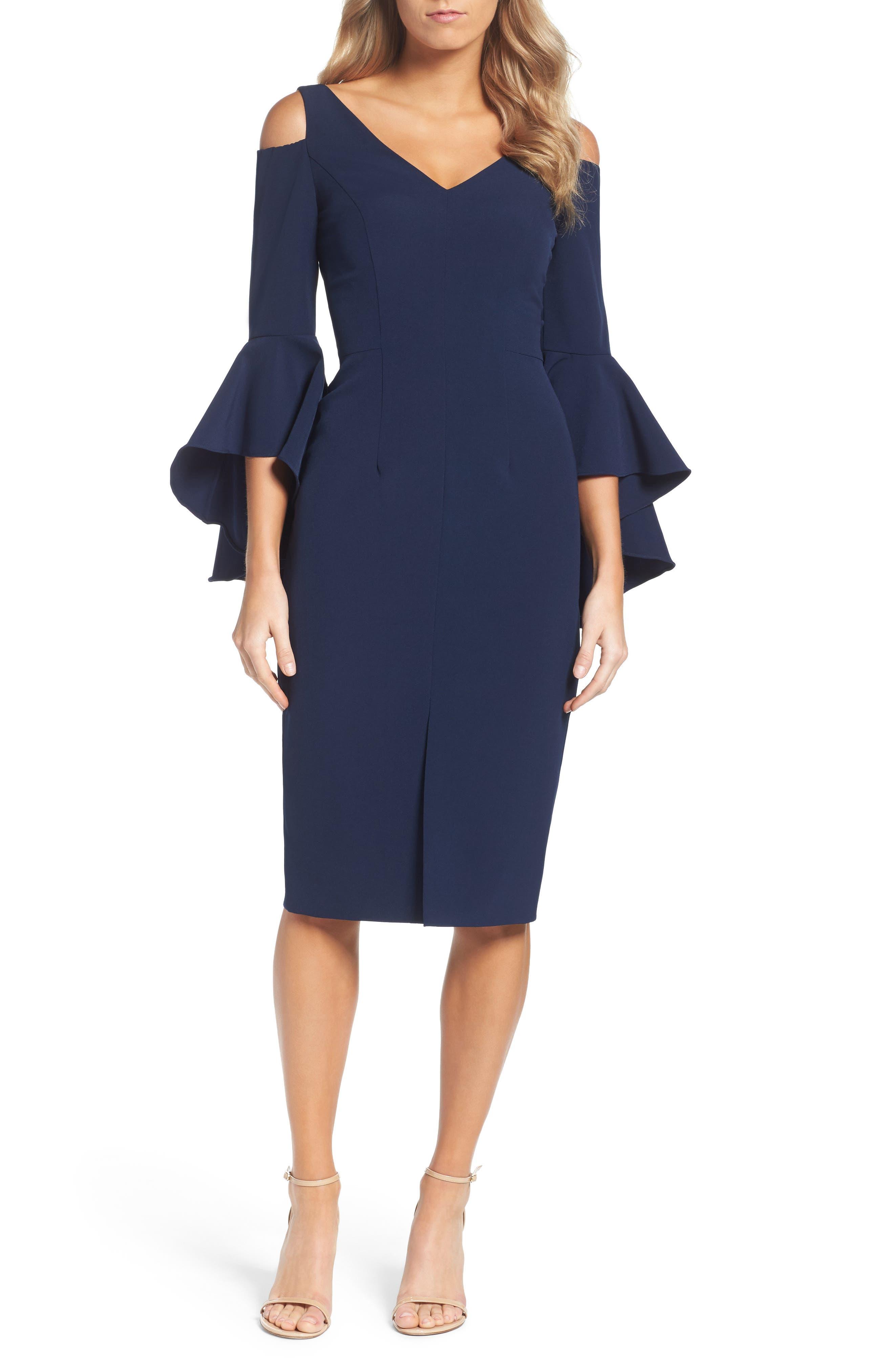 Cold Shoulder Dress,                         Main,                         color, Patriot Blue