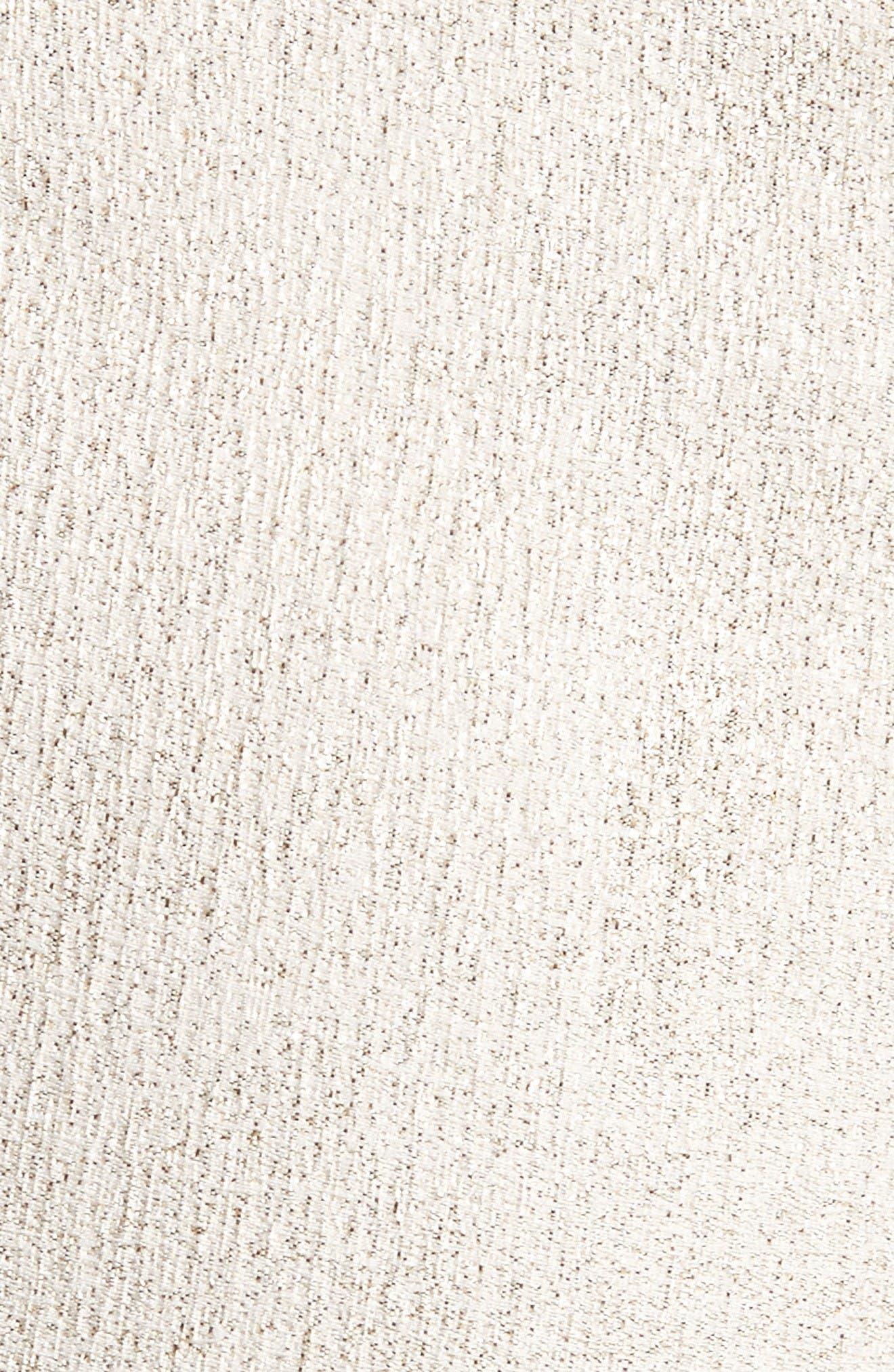 Metallic Jacquard Crop Pants,                             Alternate thumbnail 6, color,                             Bianco/ Gold
