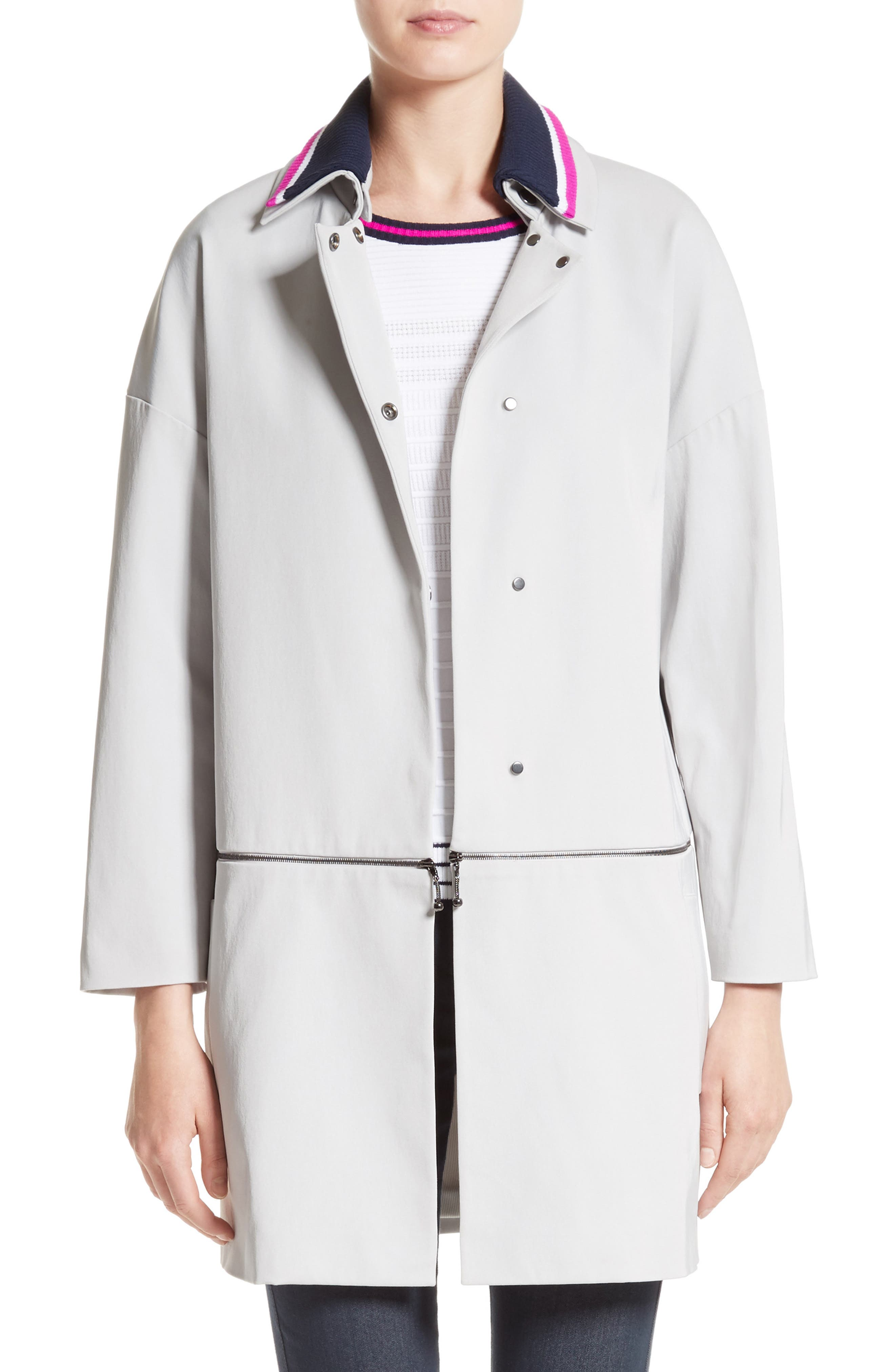 Main Image - St. John Collection Stretch Twill Convertible Coat