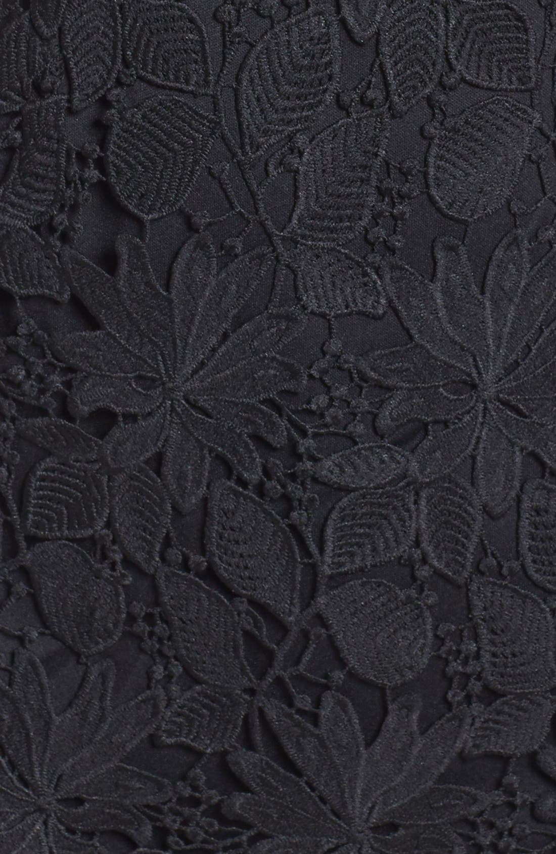 Lace Dress,                             Alternate thumbnail 6, color,                             Black