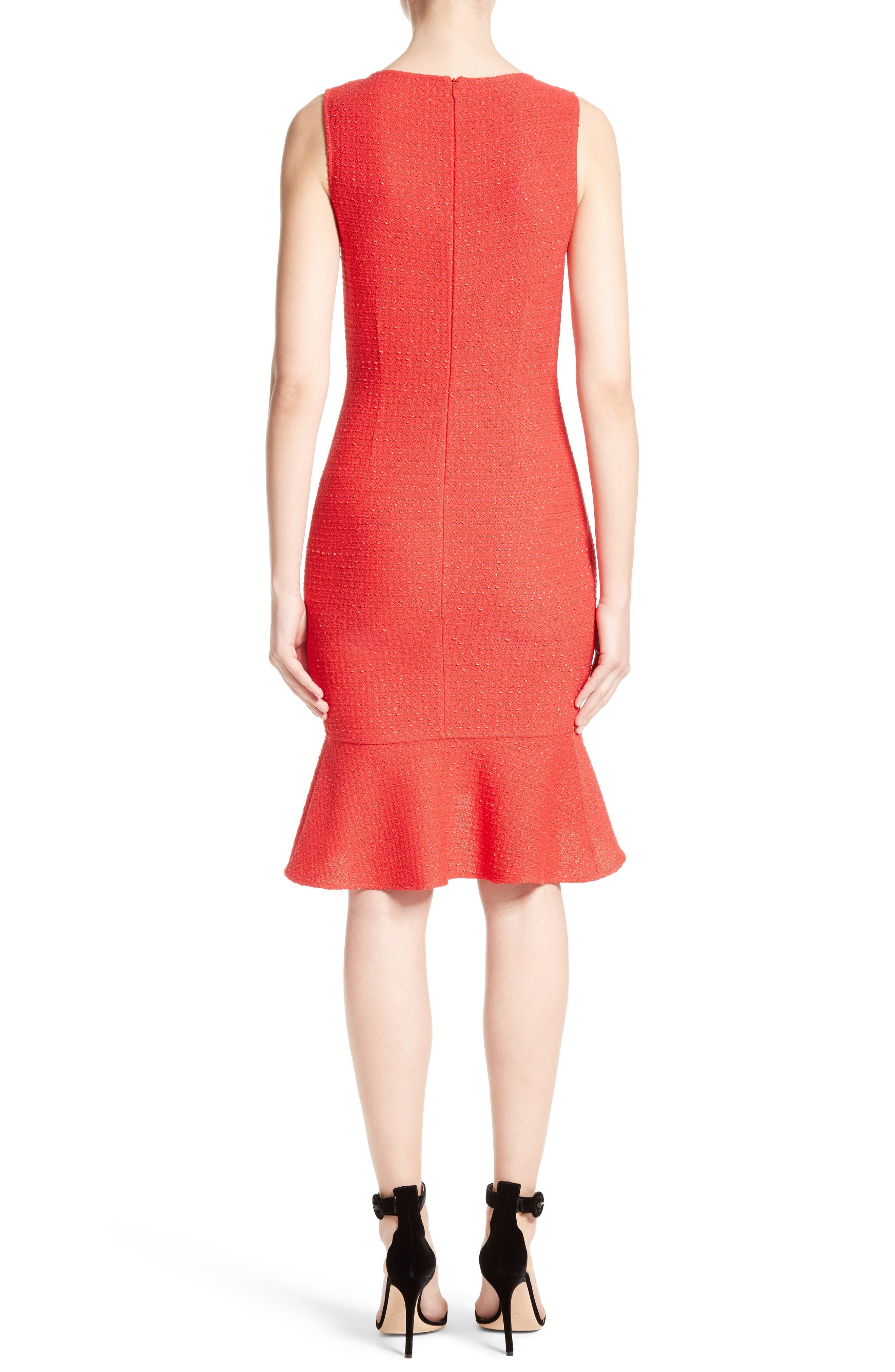 Alternate Image 2  - St. John Collection Ribbon Knit Flounce Dress