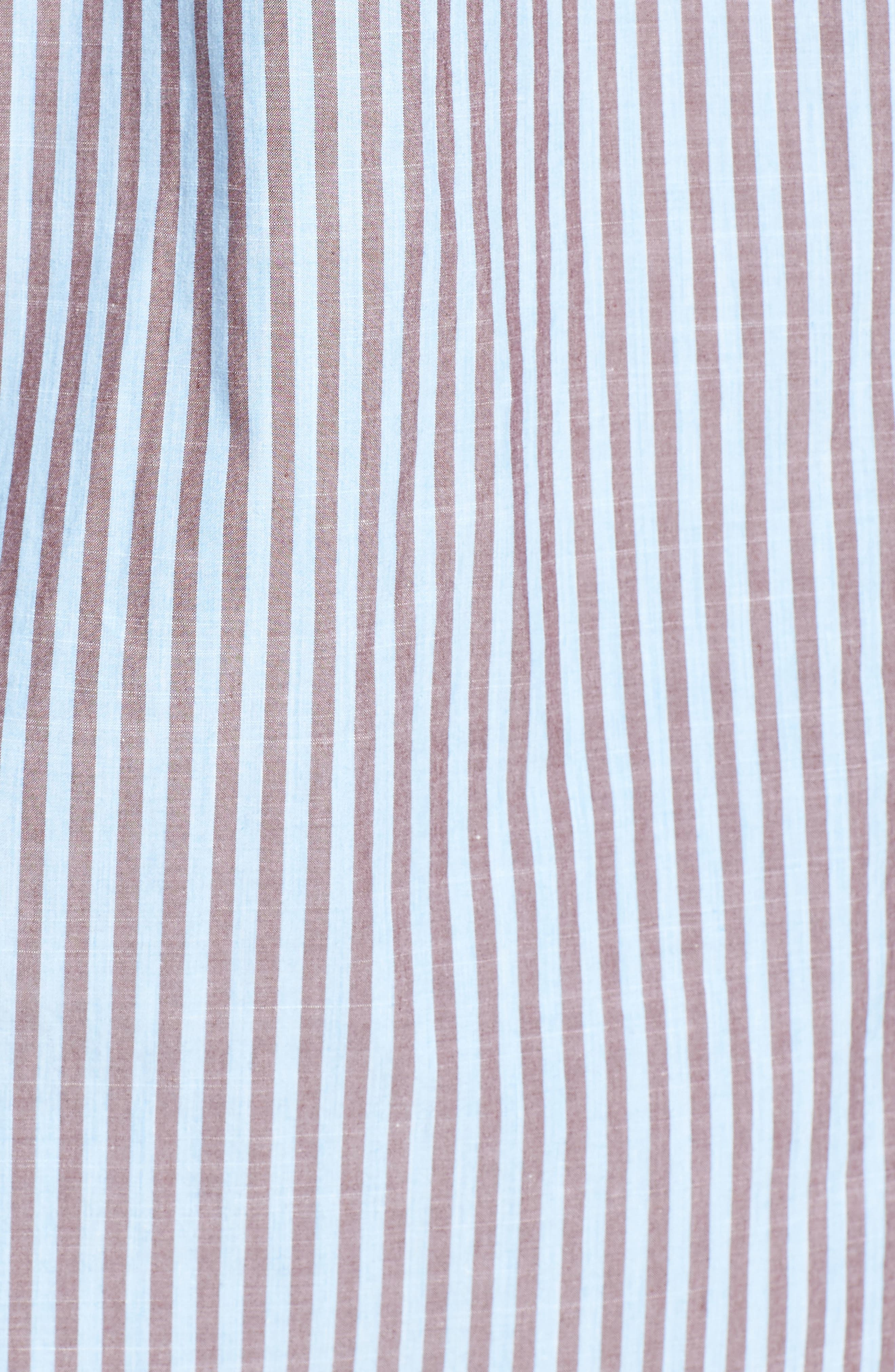 Fitzroy Stripe Sport Shirt,                             Alternate thumbnail 5, color,                             Sky