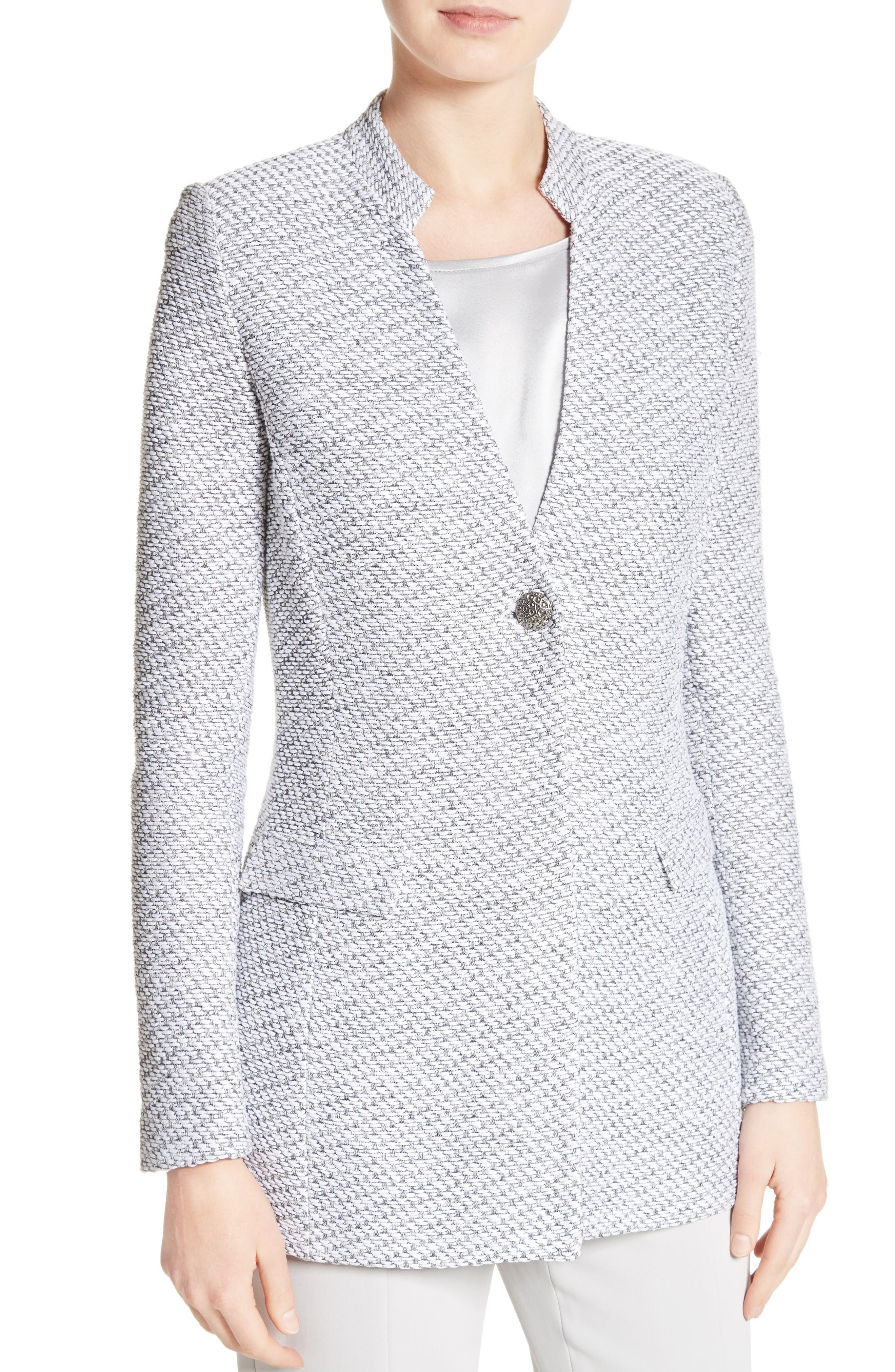 Gyan Knit Jacket,                             Alternate thumbnail 4, color,                             Bianco/ Mica Multi