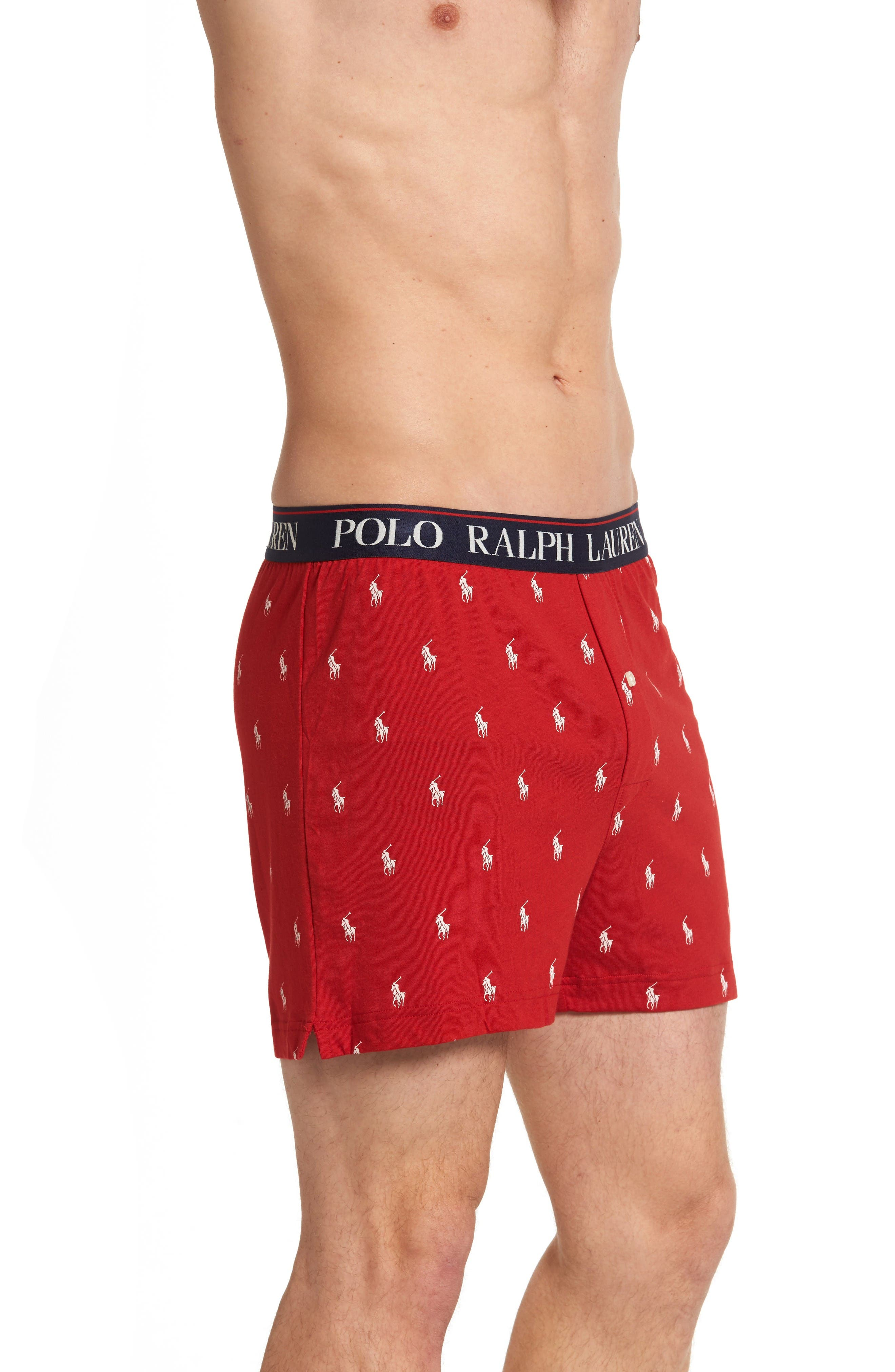 Cotton & Modal Boxers,                             Alternate thumbnail 3, color,                             Red/ Nevis