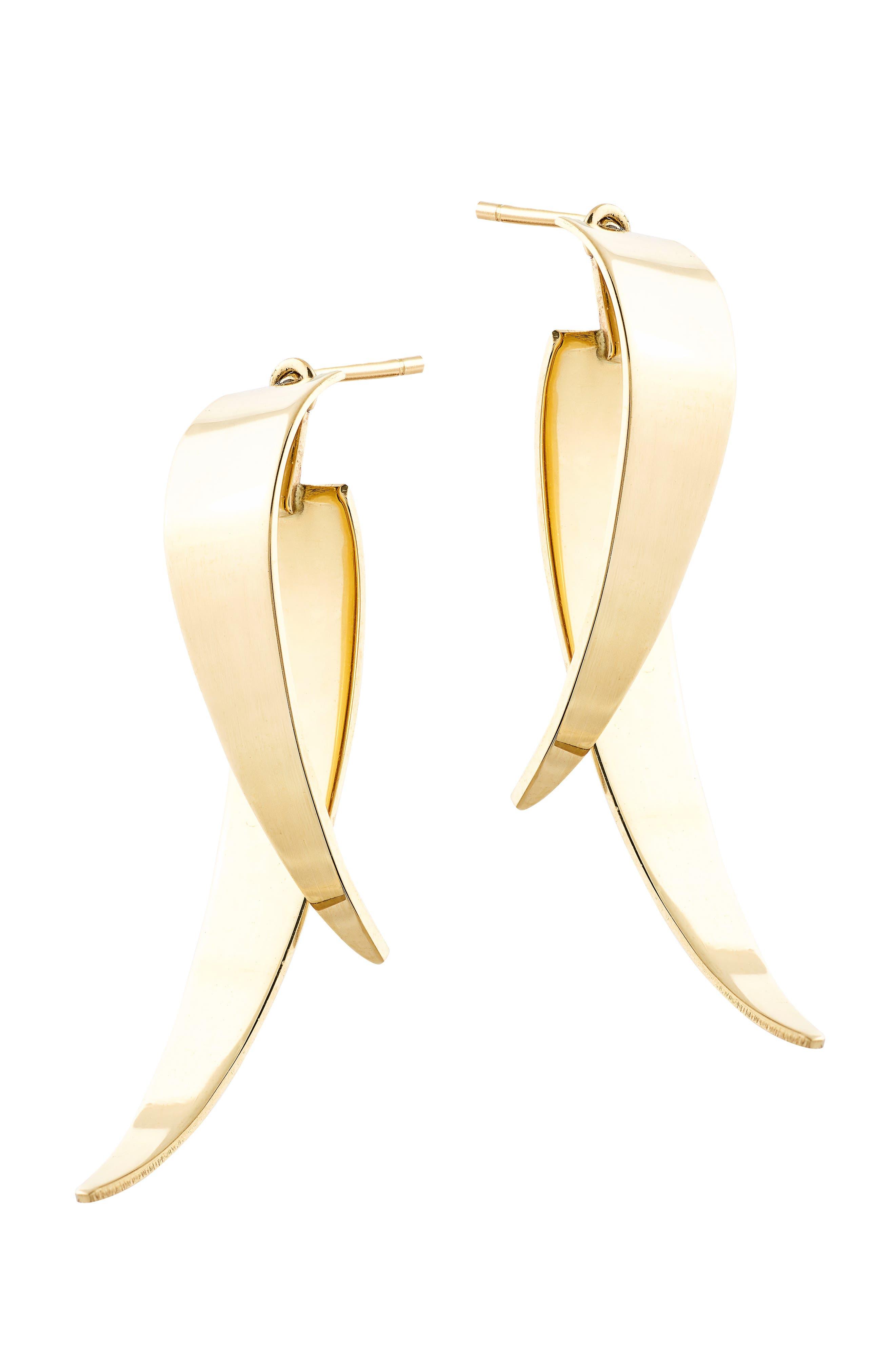 Lana Jewelry Bond Double Dagger Stud Earrings