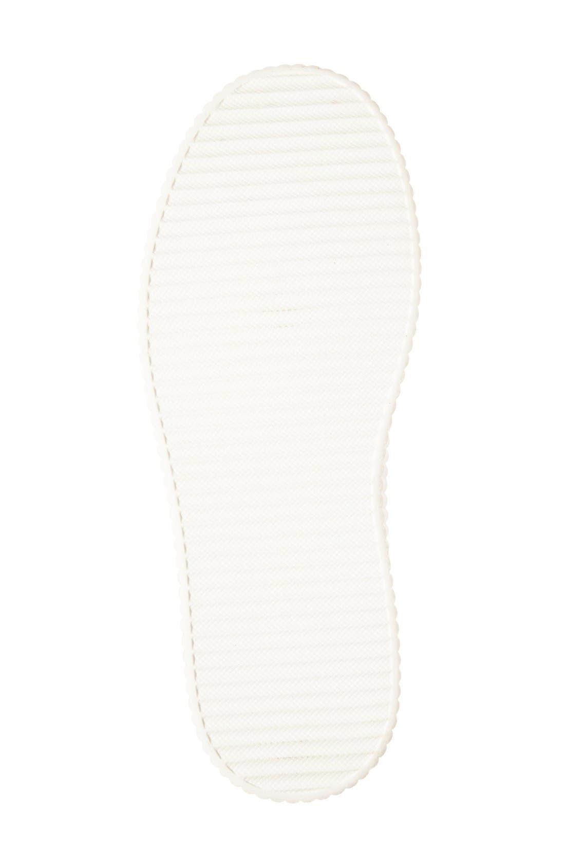 Dilys Platform Sneaker,                             Alternate thumbnail 4, color,                             Silver