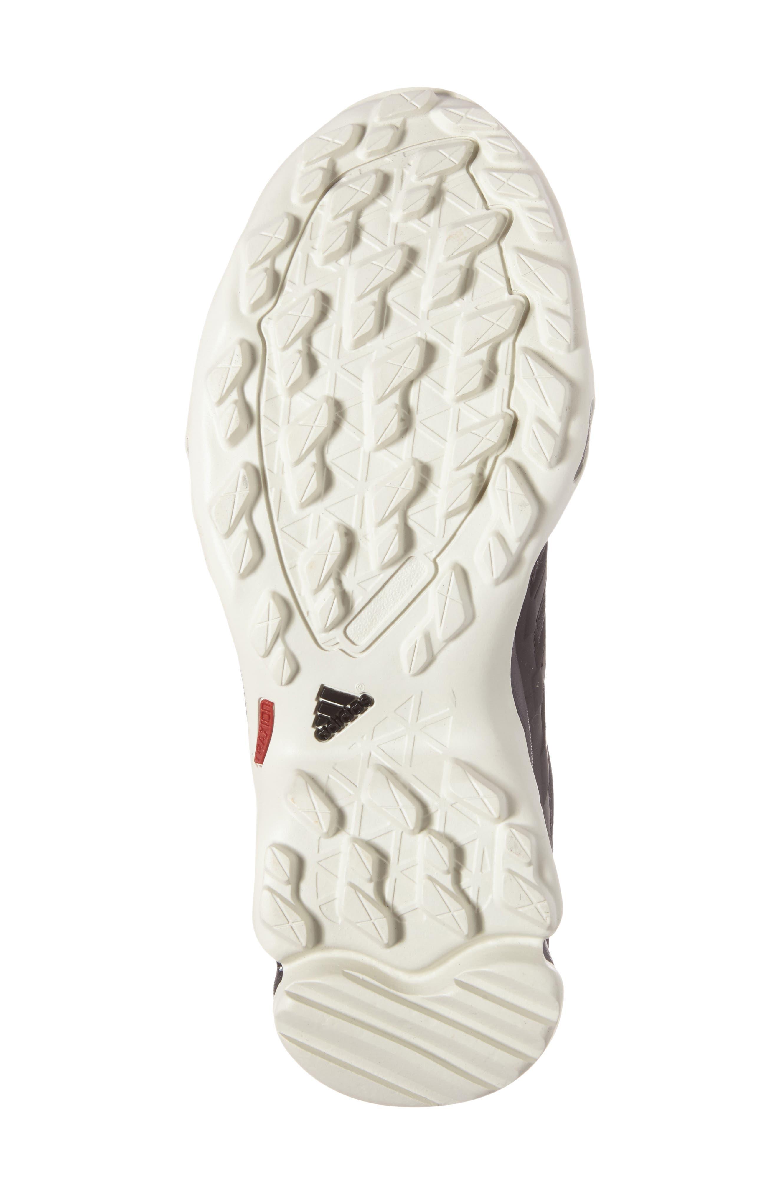 Terrex Swift R GTX Hiking Shoe,                             Alternate thumbnail 4, color,                             Black/ Black/ Tactile Pink