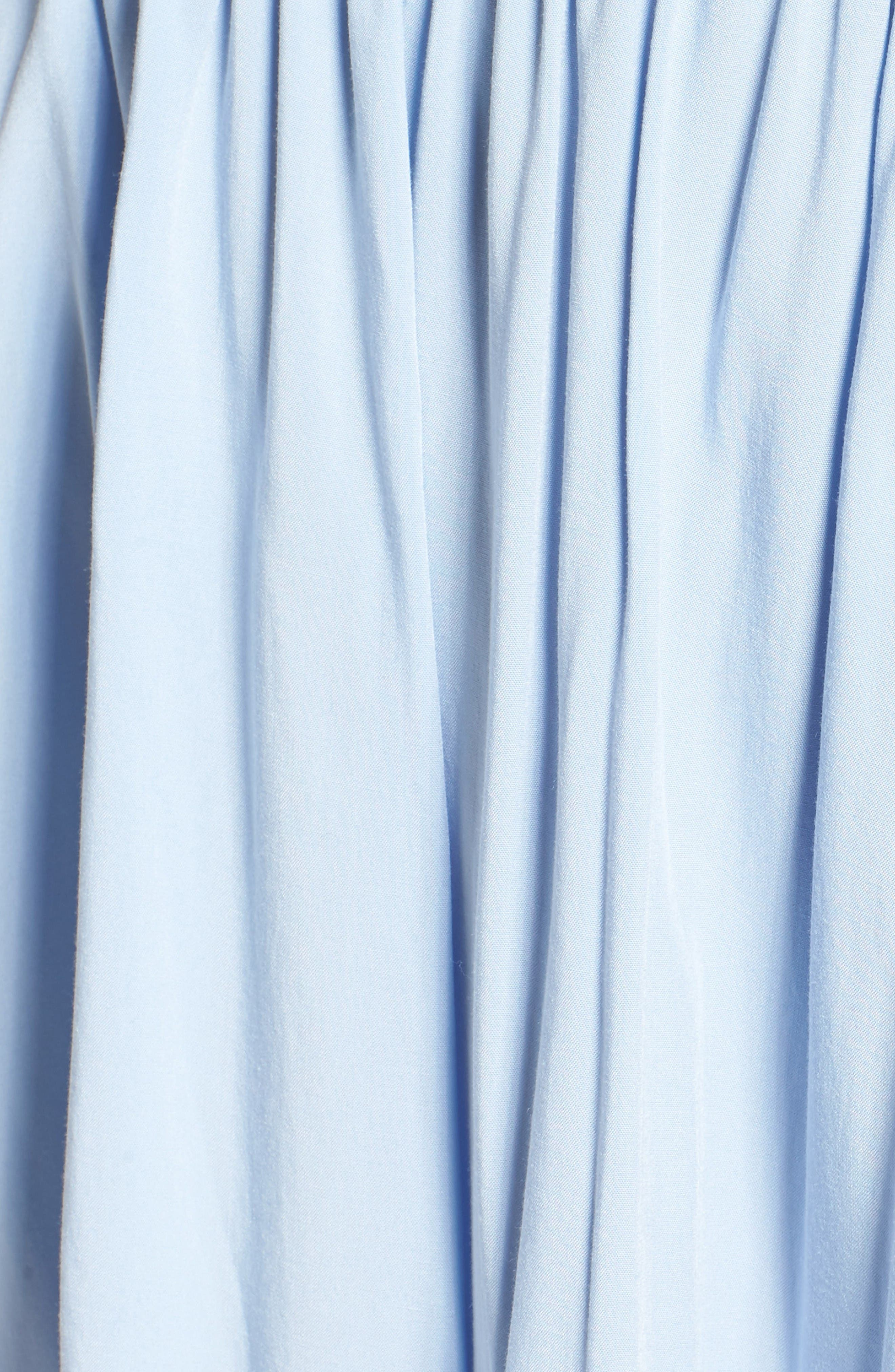 Chelsea Ruffle Bodice Off the Shoulder Dress,                             Alternate thumbnail 6, color,                             Sky Blue