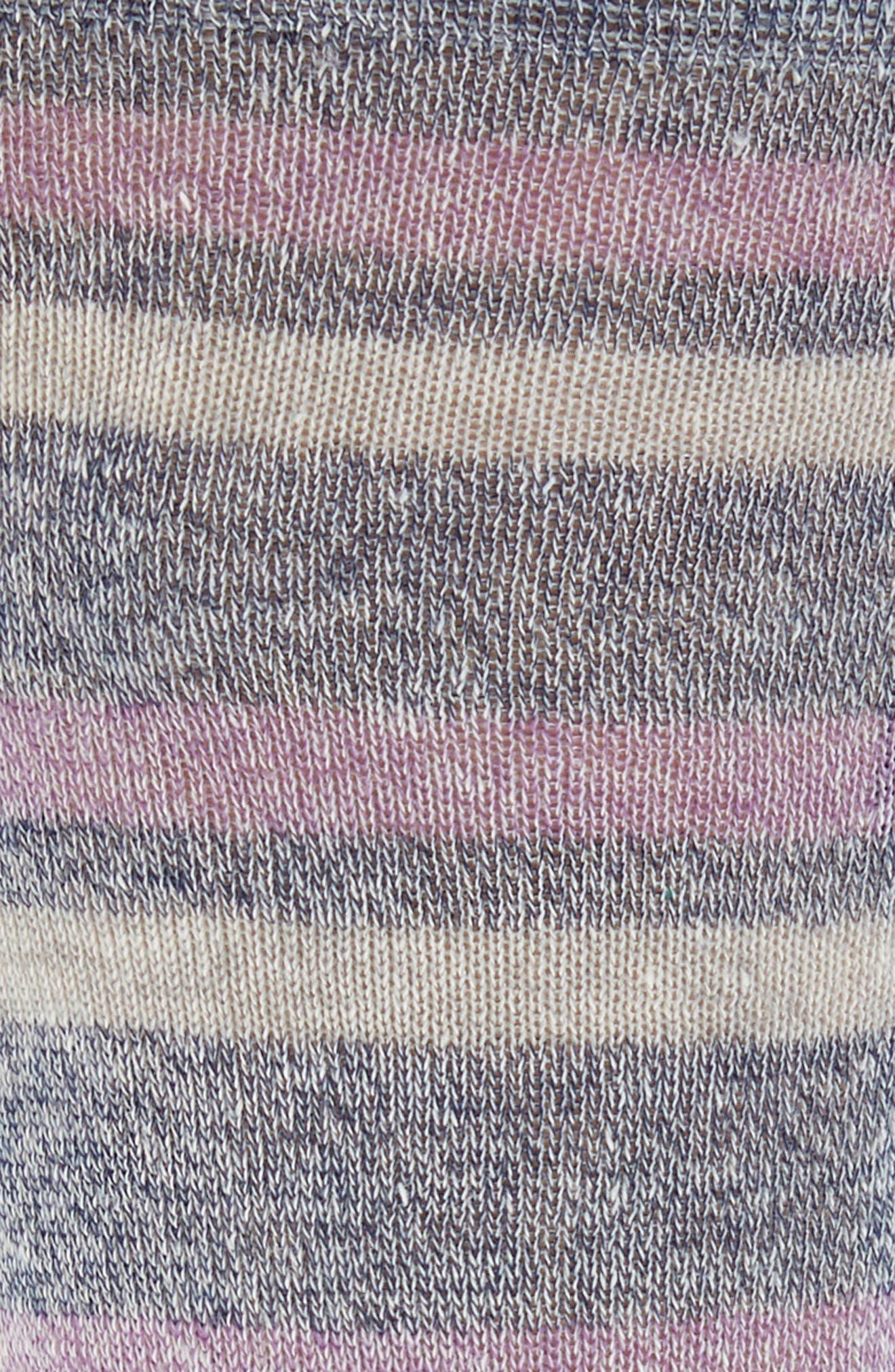 Alternate Image 2  - Lorenzo Uomo Stripe Crew Socks (3 for $30)
