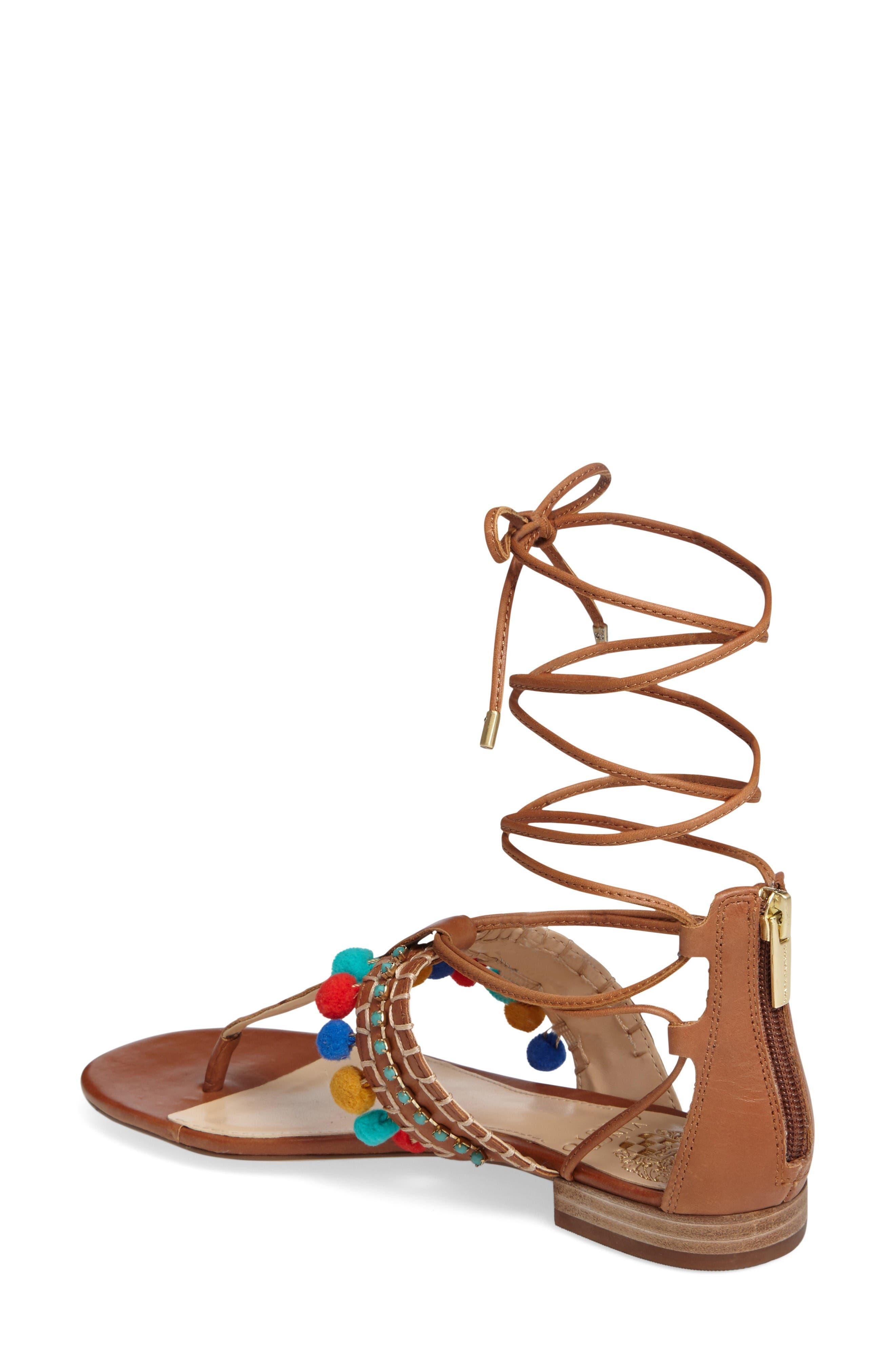 Alternate Image 2  - Vince Camuto Balisa Embellished Lace-Up Sandal (Women)
