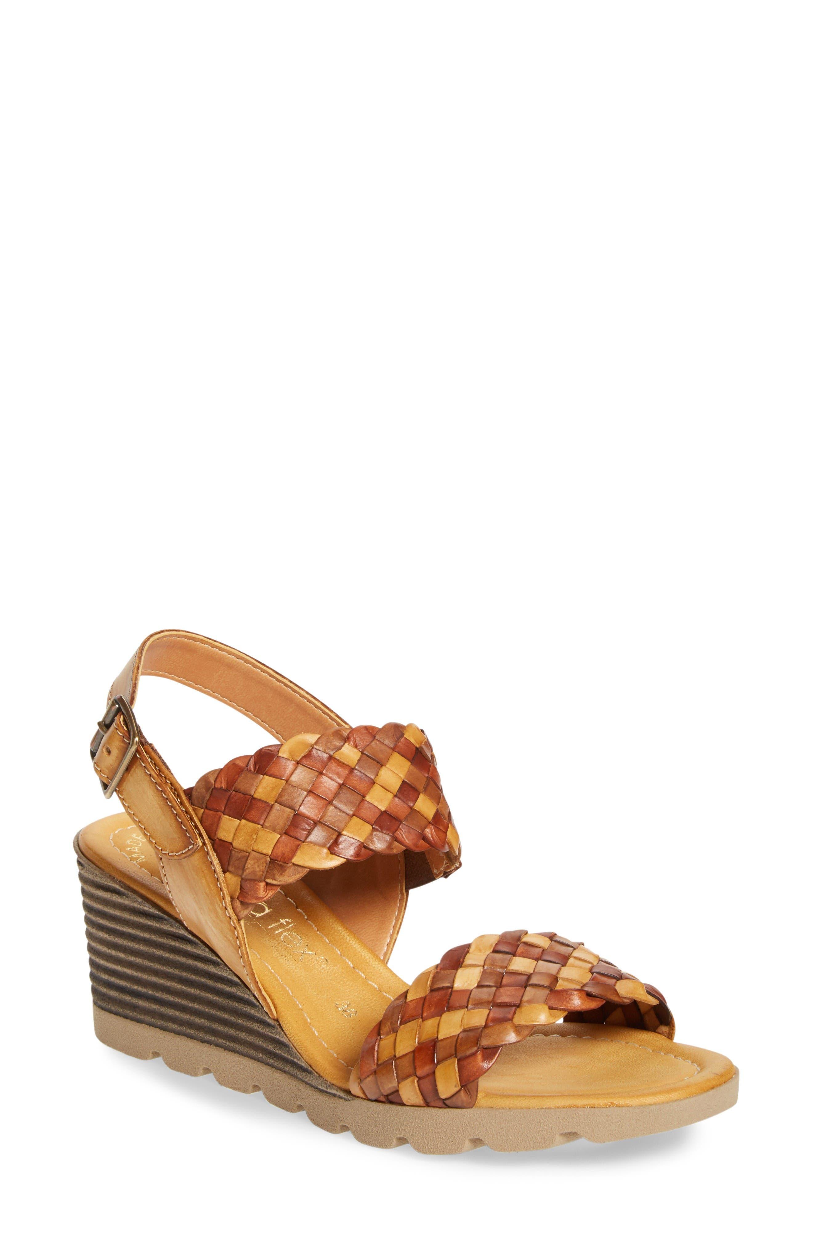 Alternate Image 1 Selected - Napa Flex Cool Wedge Sandal (Women)