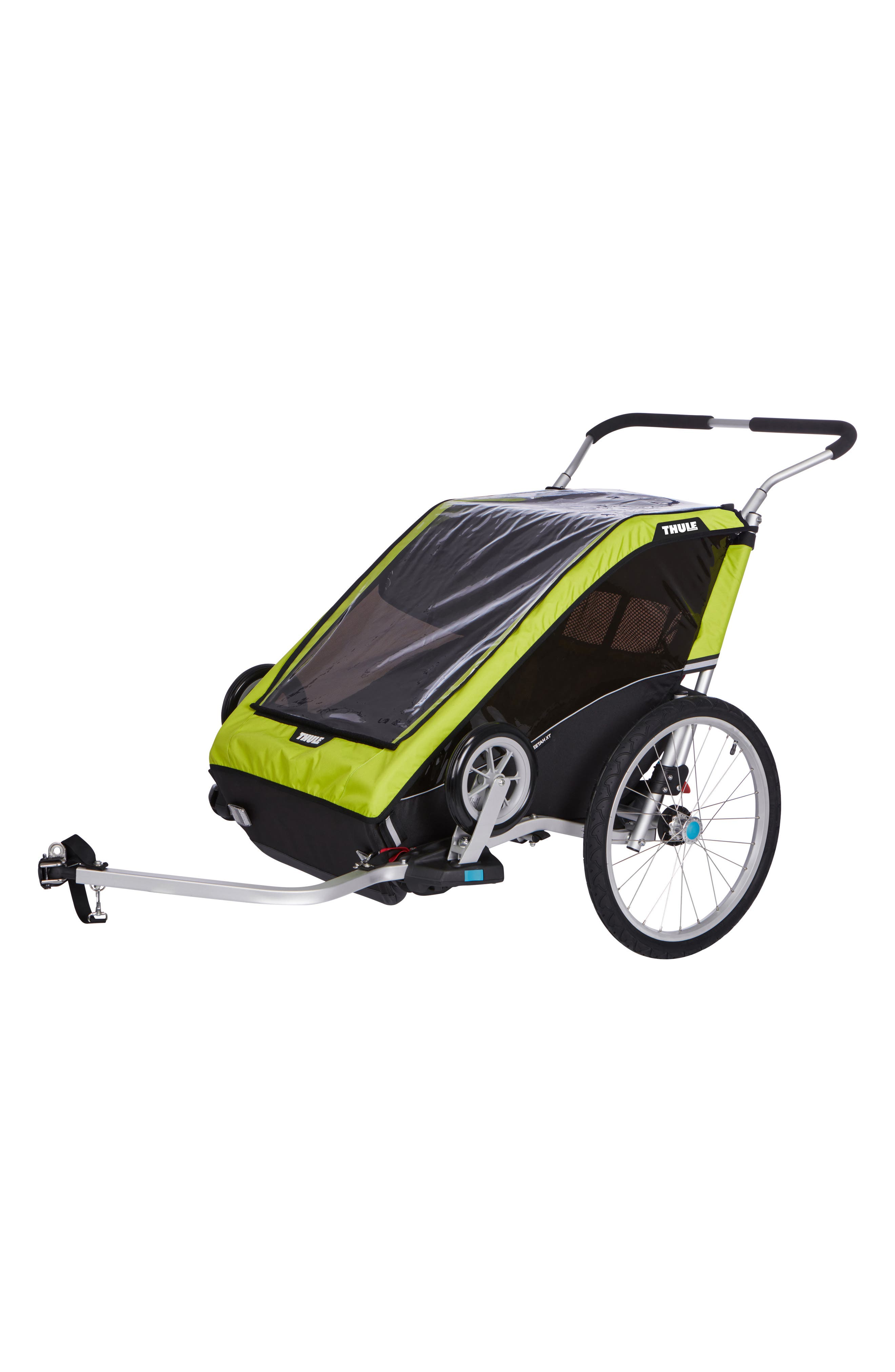Chariot Cheetah XT 2 Multisport Double Cycle Trailer/Stroller,                             Alternate thumbnail 7, color,                             Chartreuse