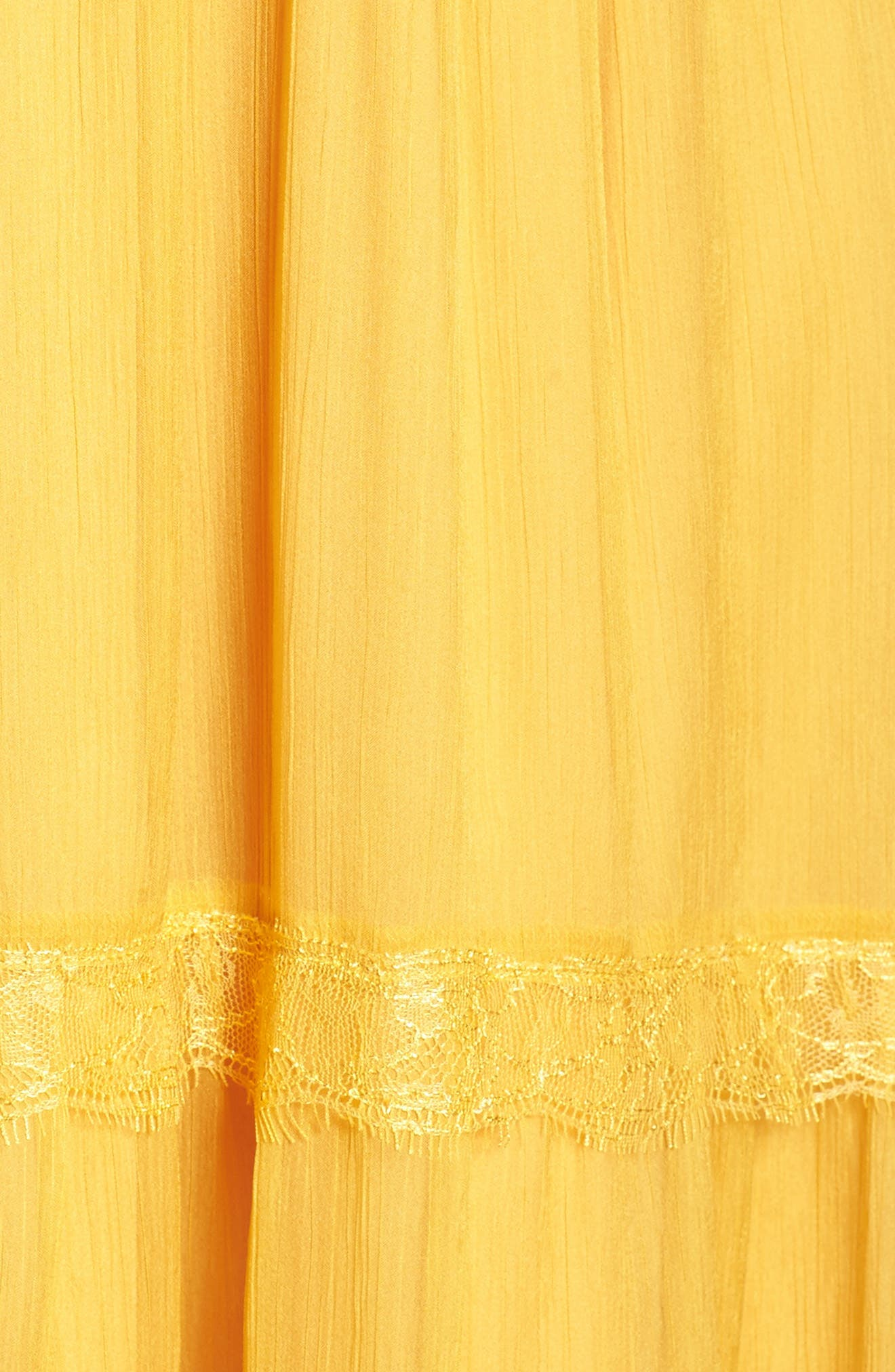 Tiered Chiffon Maxi Dress,                             Alternate thumbnail 5, color,                             Golden Yellow