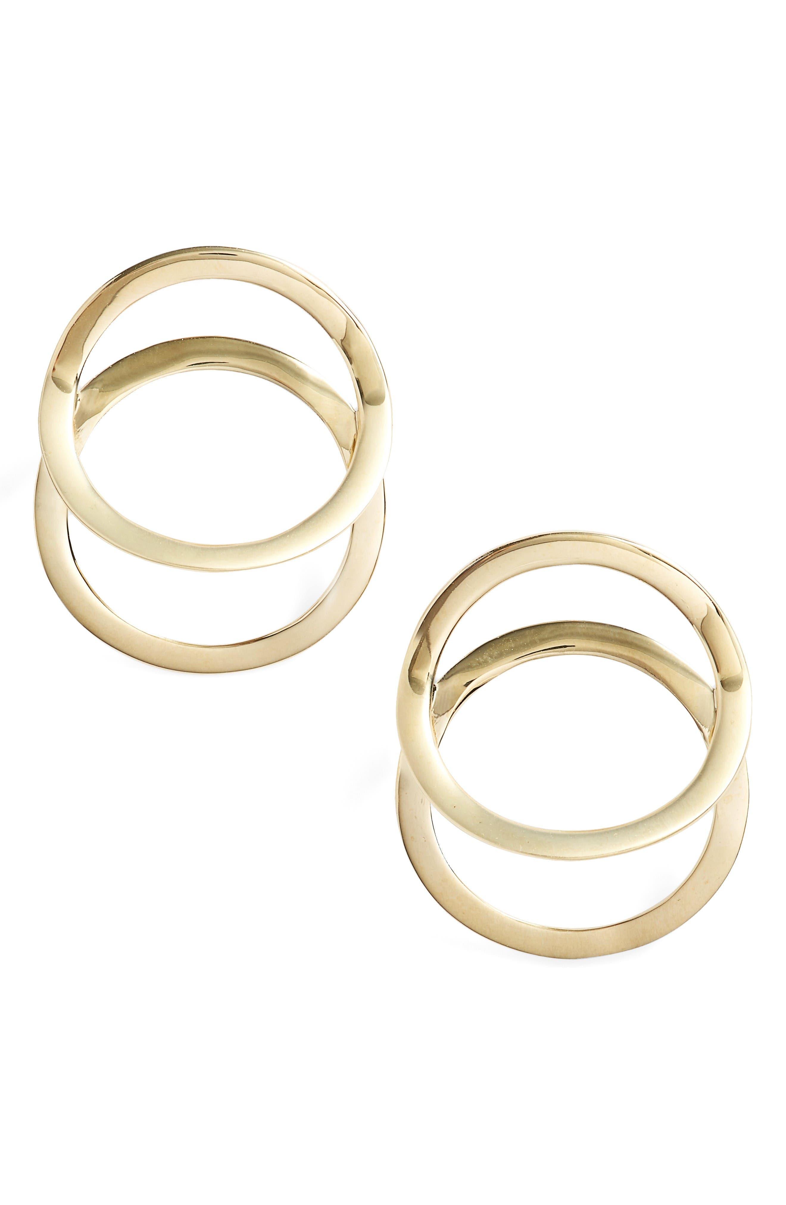 BONY LEVY Geo Circle Stud Earrings