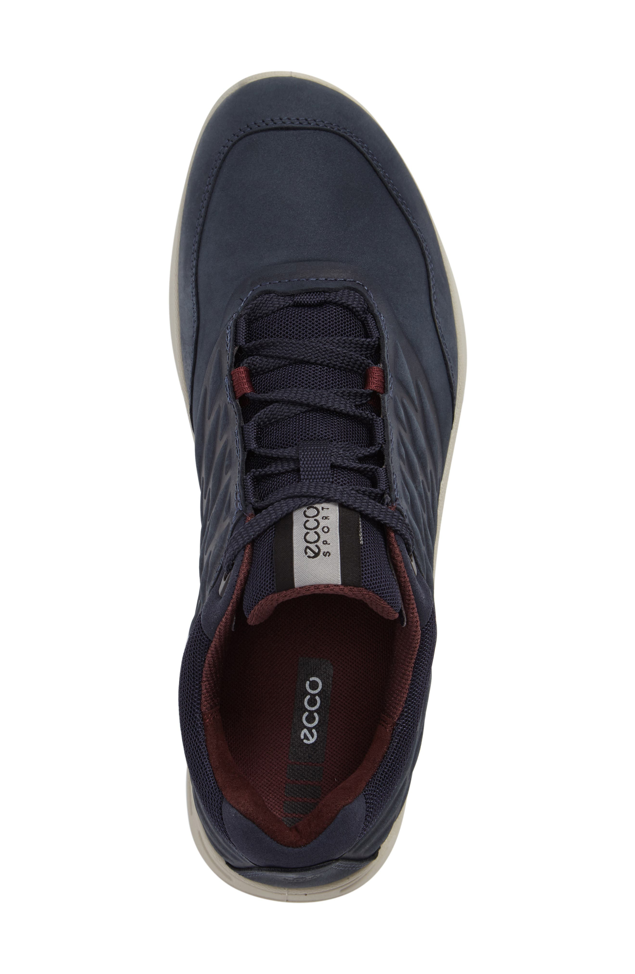 'Exceed' Leather Sneaker,                             Alternate thumbnail 3, color,                             Marine