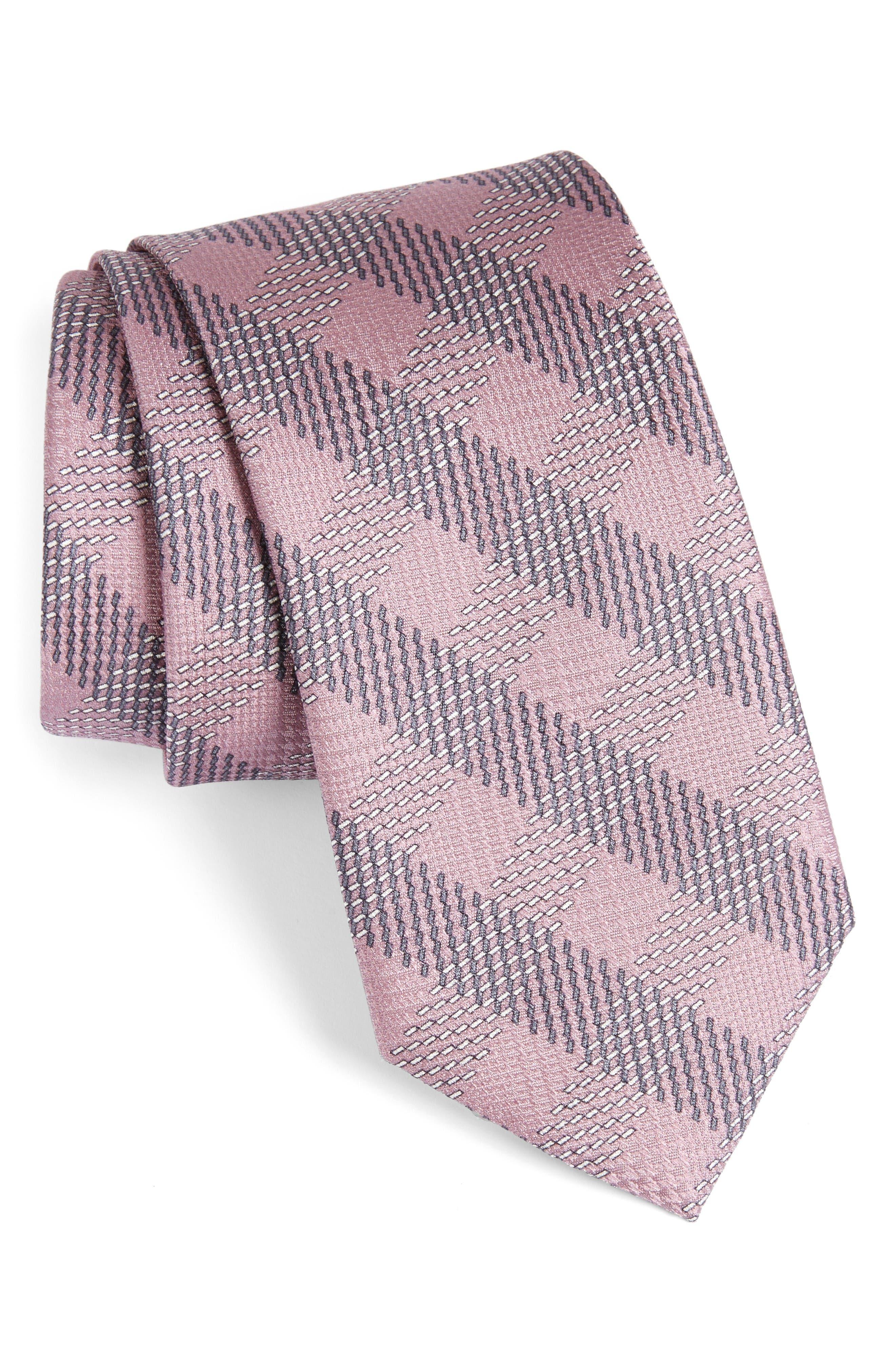 BRIONI Grid Silk Tie