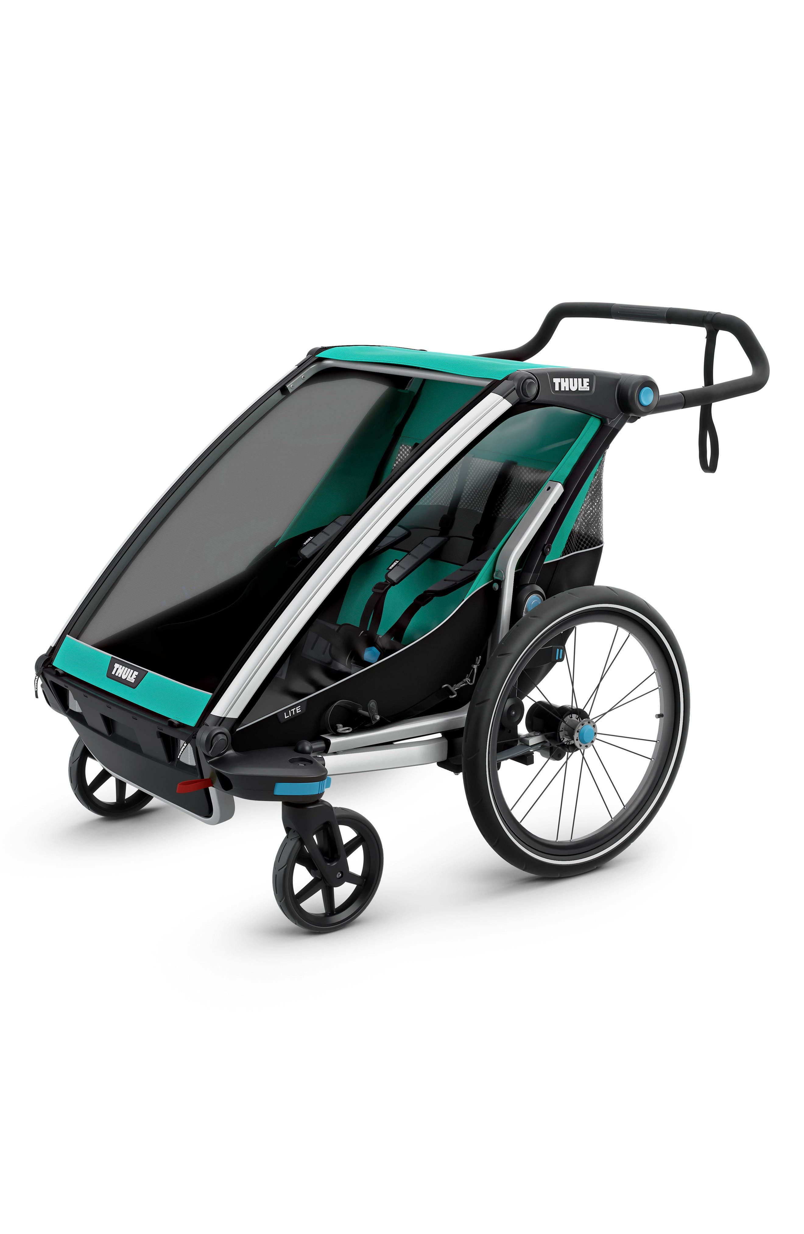 Chariot Lite 2 Multisport Double Cycle Trailer/Stroller,                         Main,                         color, Bluegrass
