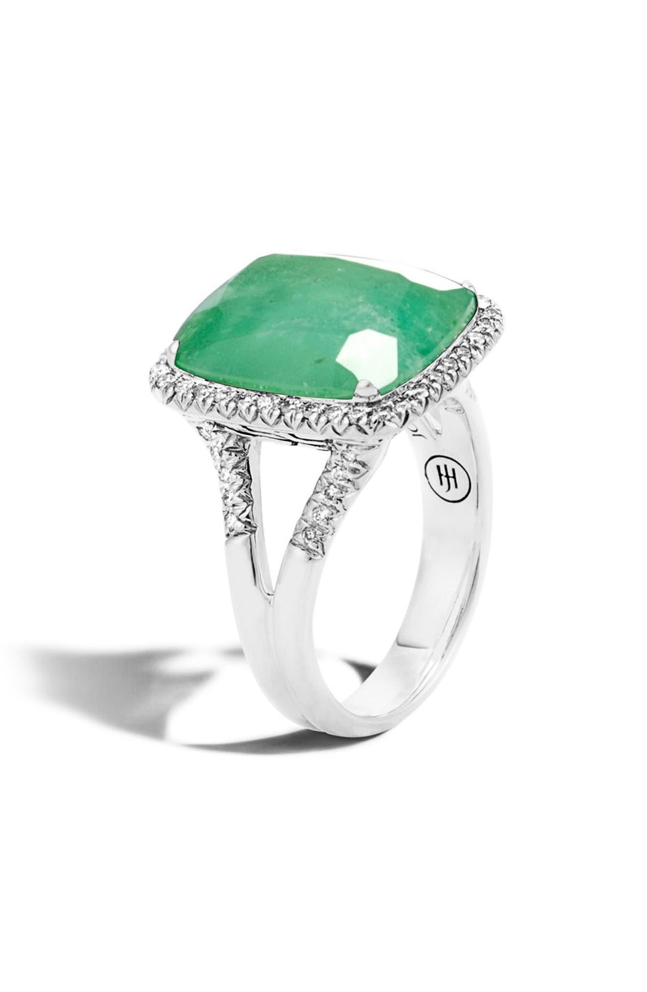 John Hardy Classic Chain Gemstone Ring