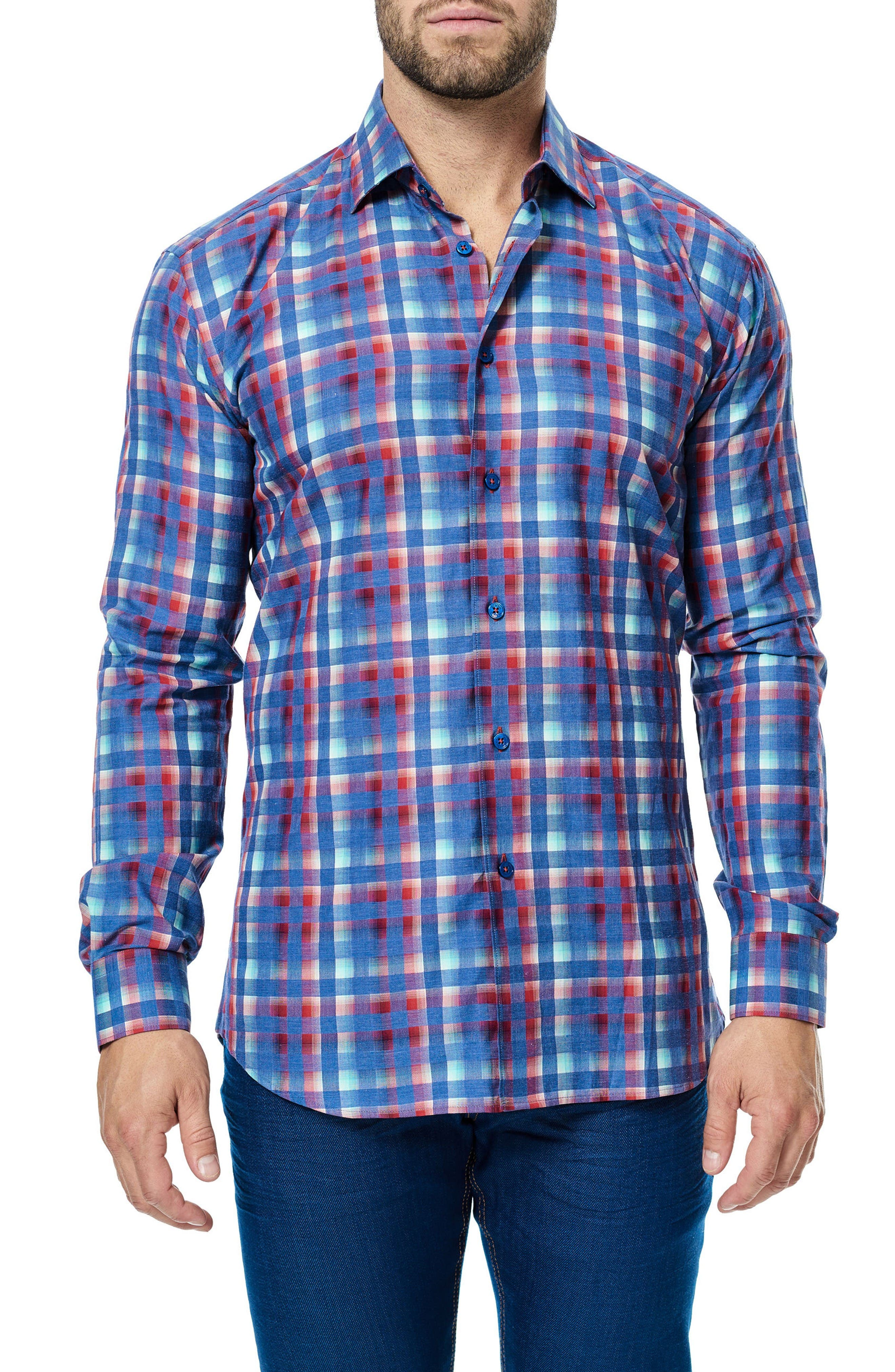 Alternate Image 1 Selected - Maceoo Luxor Check Sport Shirt