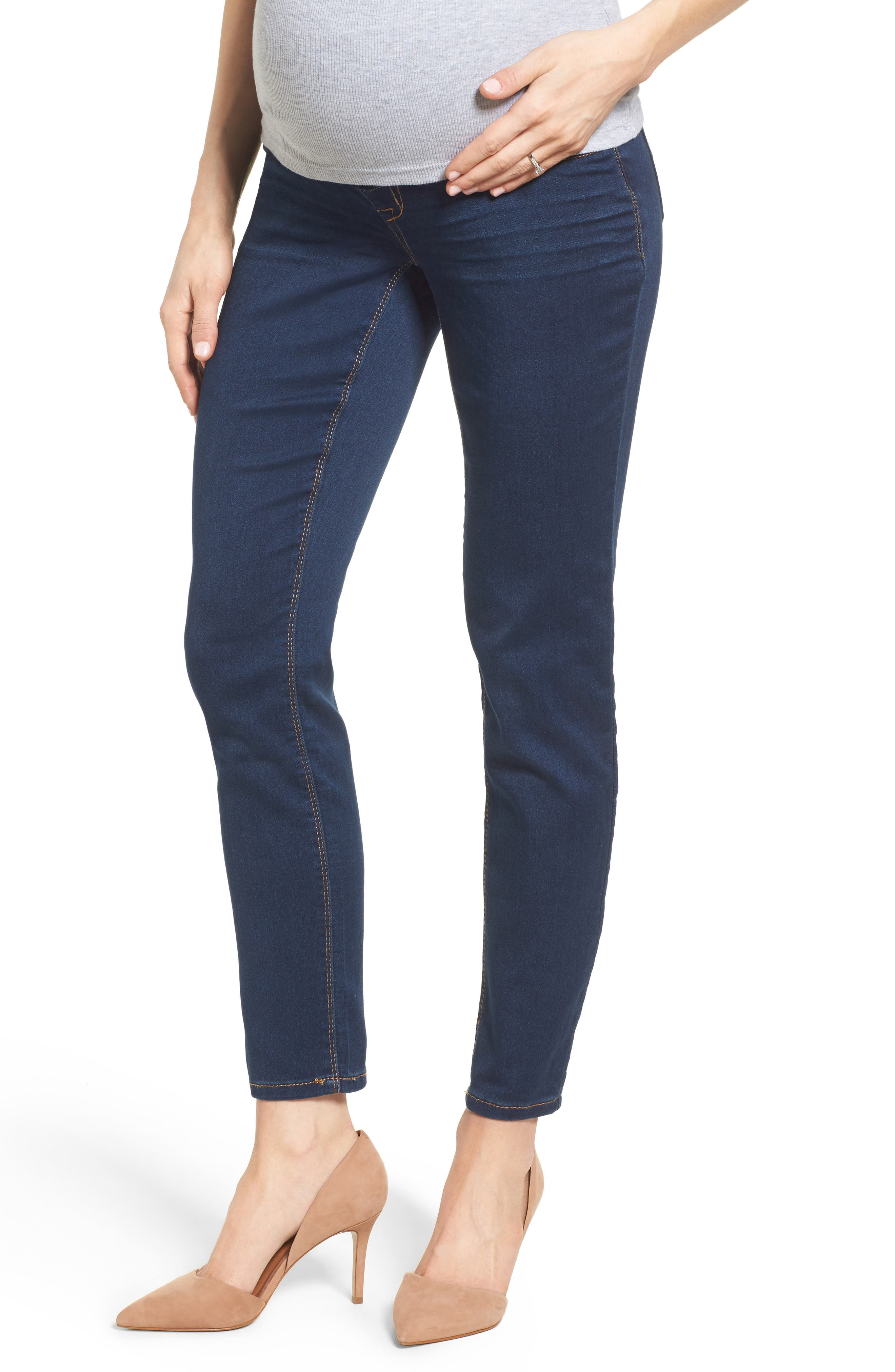 Butter Maternity Skinny Jeans,                         Main,                         color, Midnight