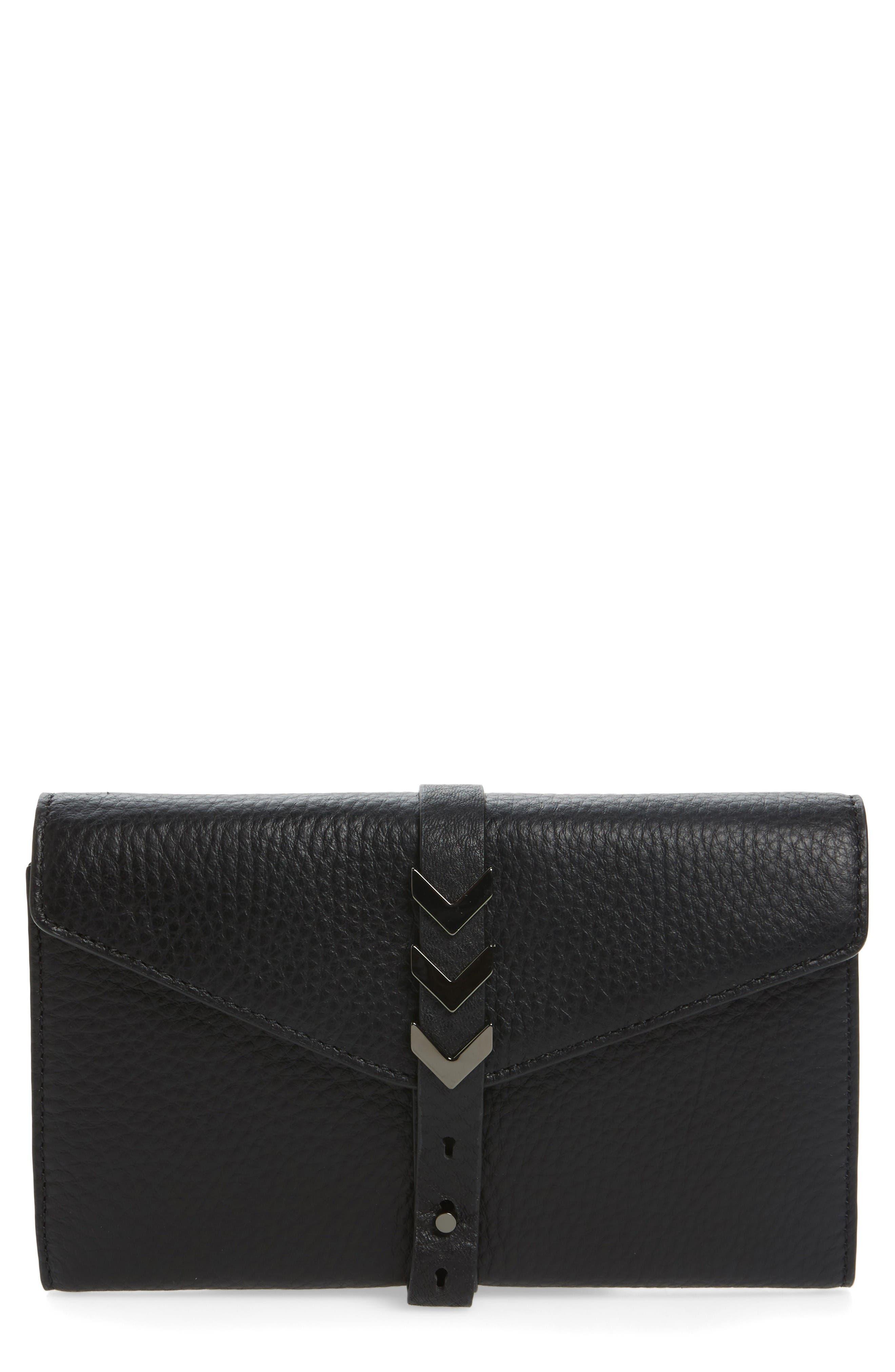 Atlas Leather Envelope Wallet,                         Main,                         color, Black