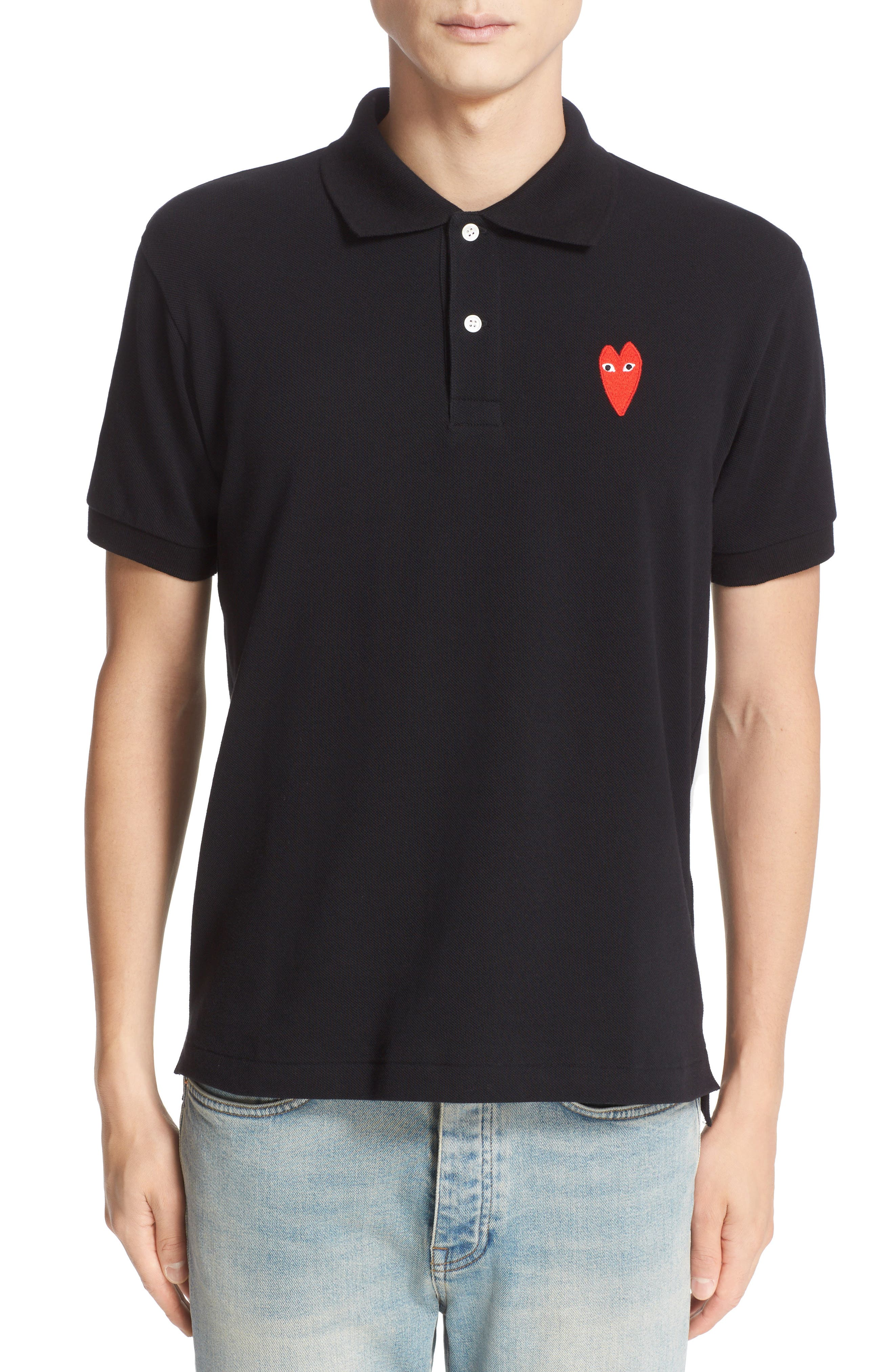 Alternate Image 1 Selected - Comme des Garçons PLAY Stretch Heart Face Polo