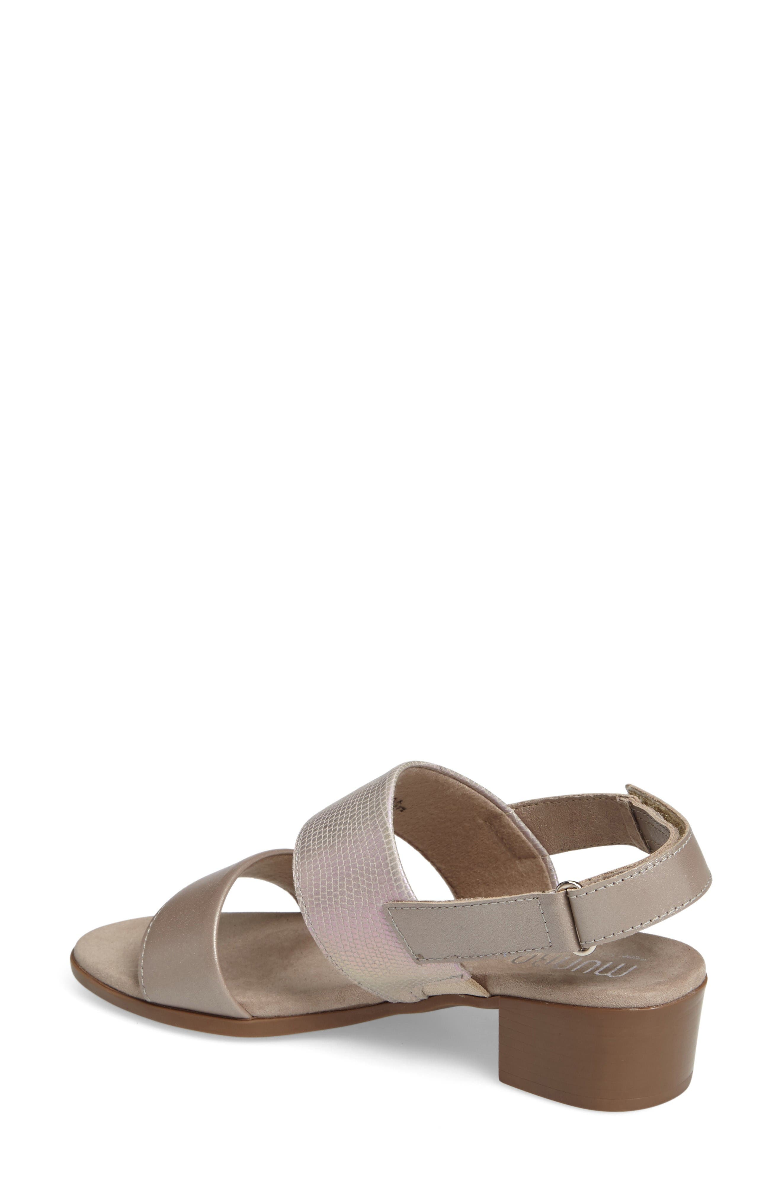 Kristal Sandal,                             Alternate thumbnail 2, color,                             Pearl Metallic Lizard Leather