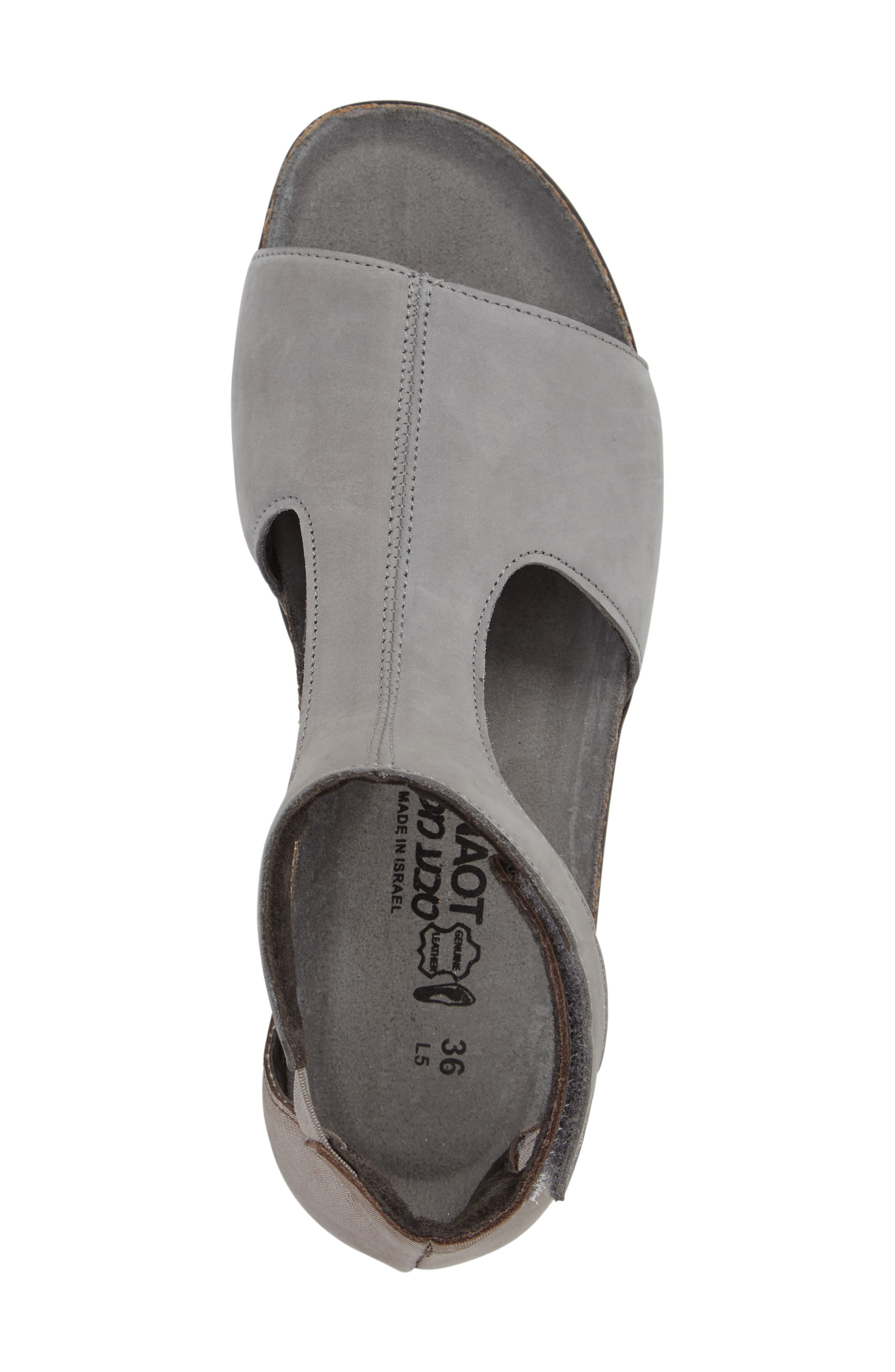 Nala Sandal,                             Alternate thumbnail 3, color,                             Grey/ Silver Nubuck Leather