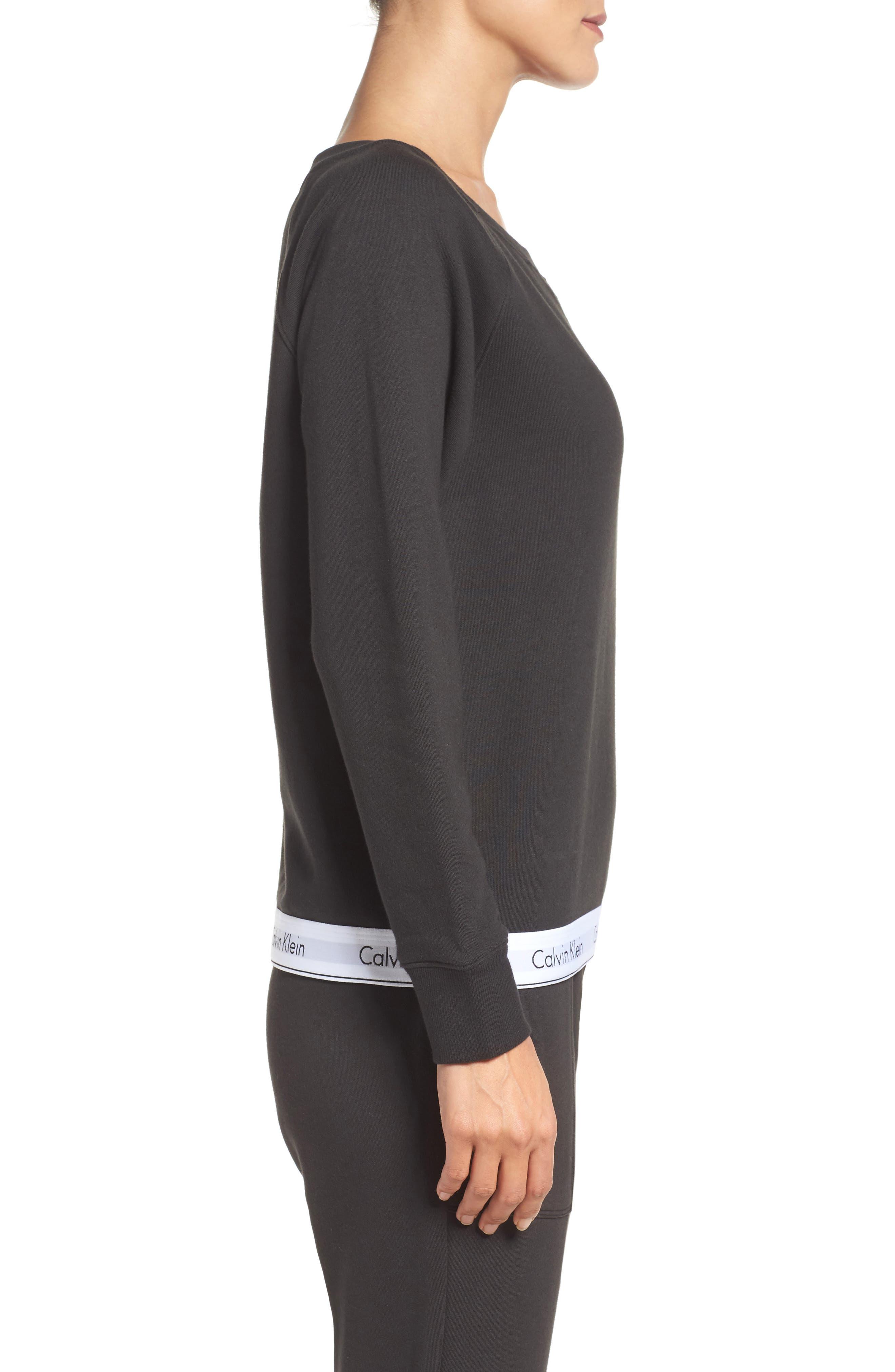 Lounge Sweatshirt,                             Alternate thumbnail 3, color,                             Black