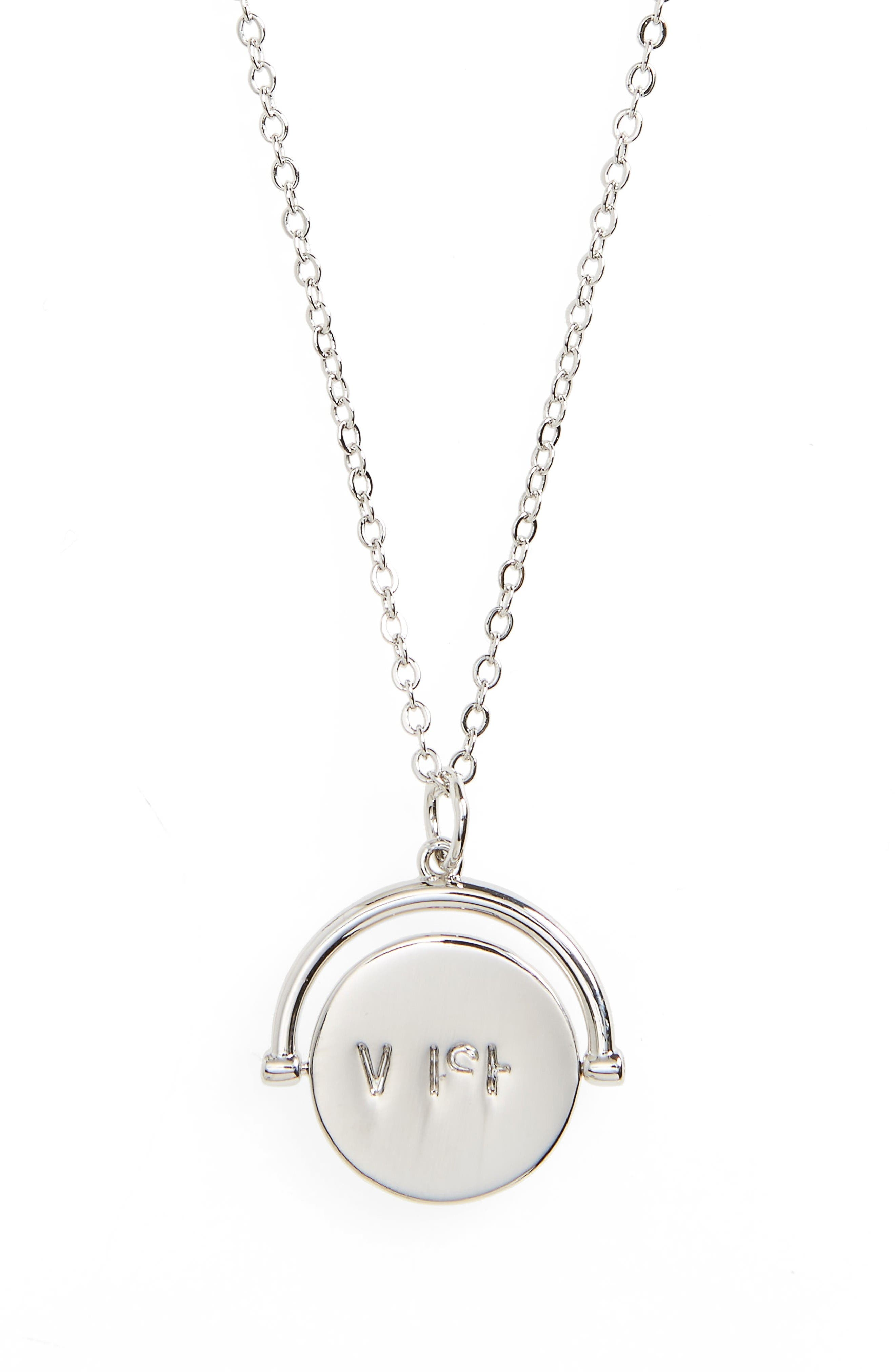 Wish Love Code Charm Necklace,                         Main,                         color, Wish/ Silver