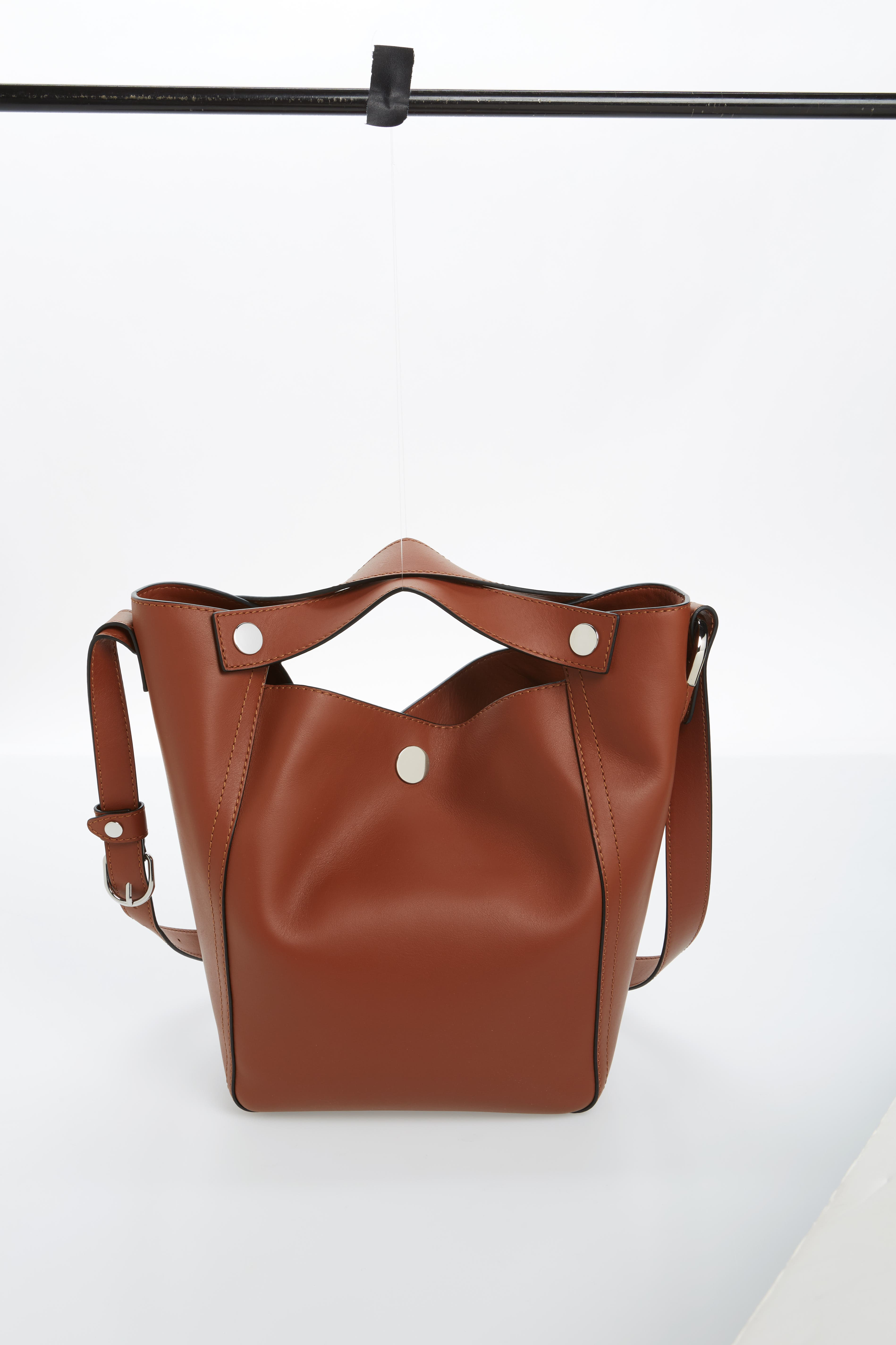 Large Dolly Leather Tote,                             Main thumbnail 1, color,                             Sequoia
