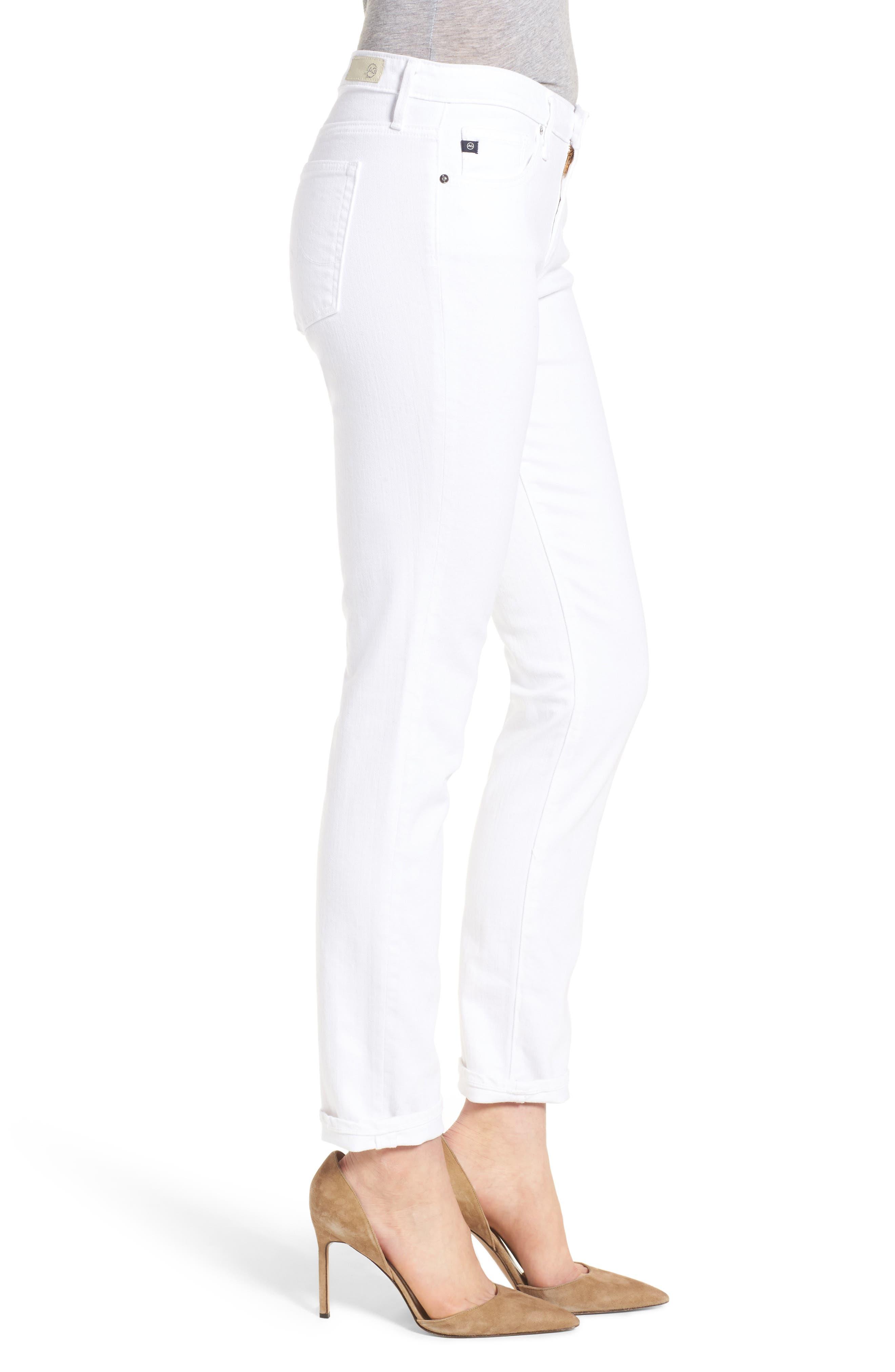 Prima Cigarette Leg Skinny Jeans,                             Alternate thumbnail 3, color,                             White