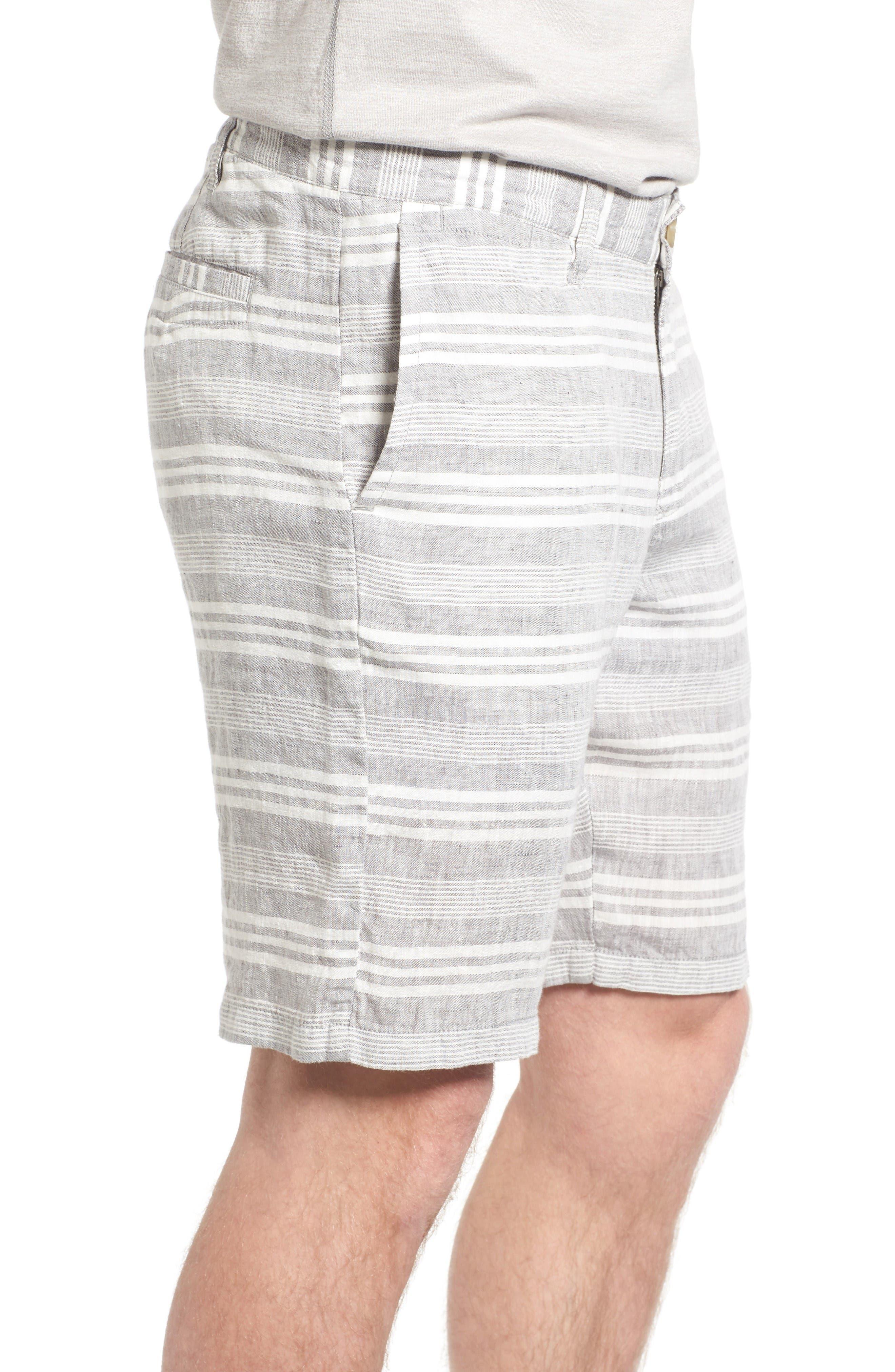 Alternate Image 3  - 1901 Stripe Linen Shorts