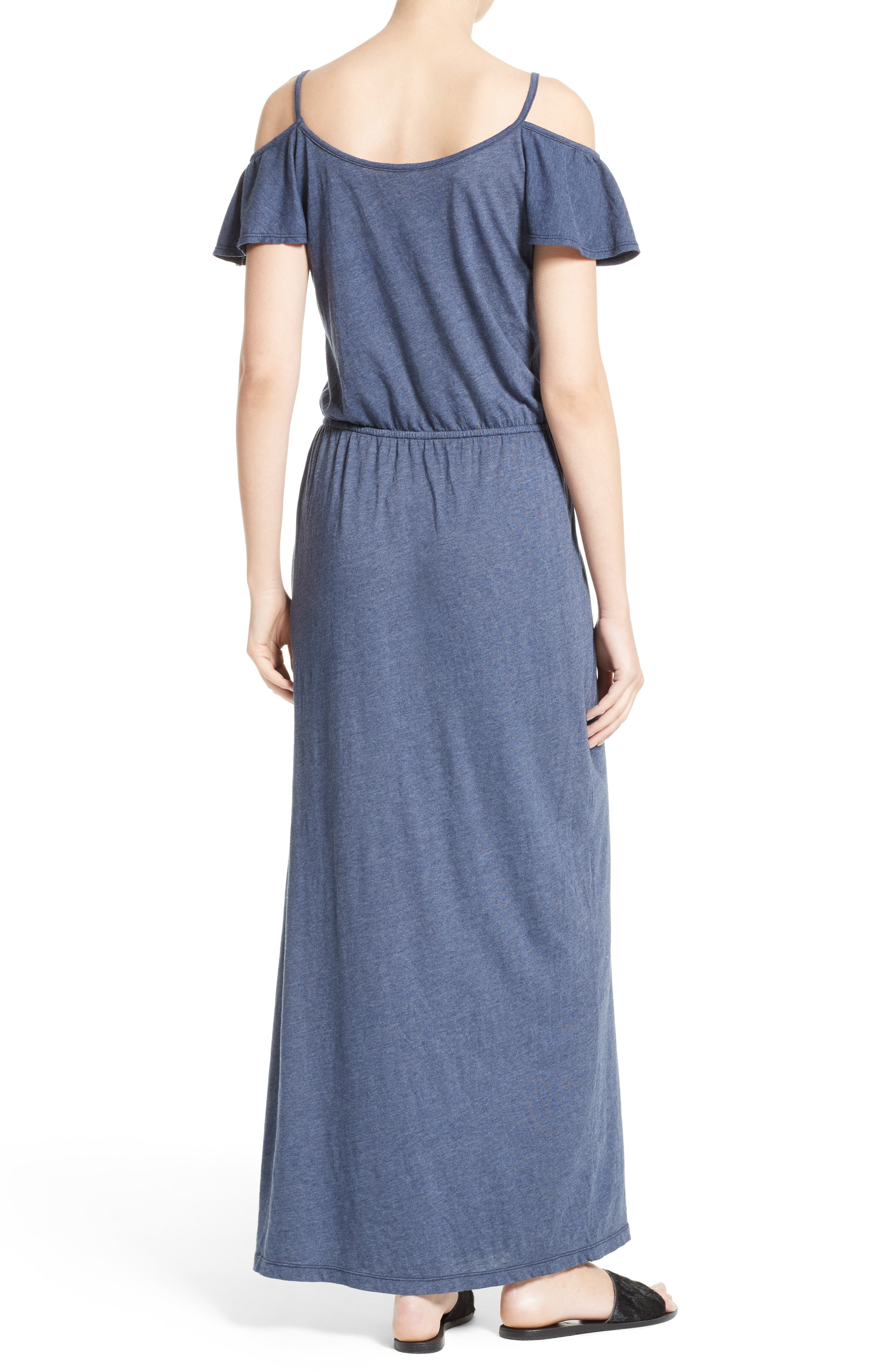 Jassina Jersey Maxi Dress,                             Alternate thumbnail 2, color,                             Dark Navy