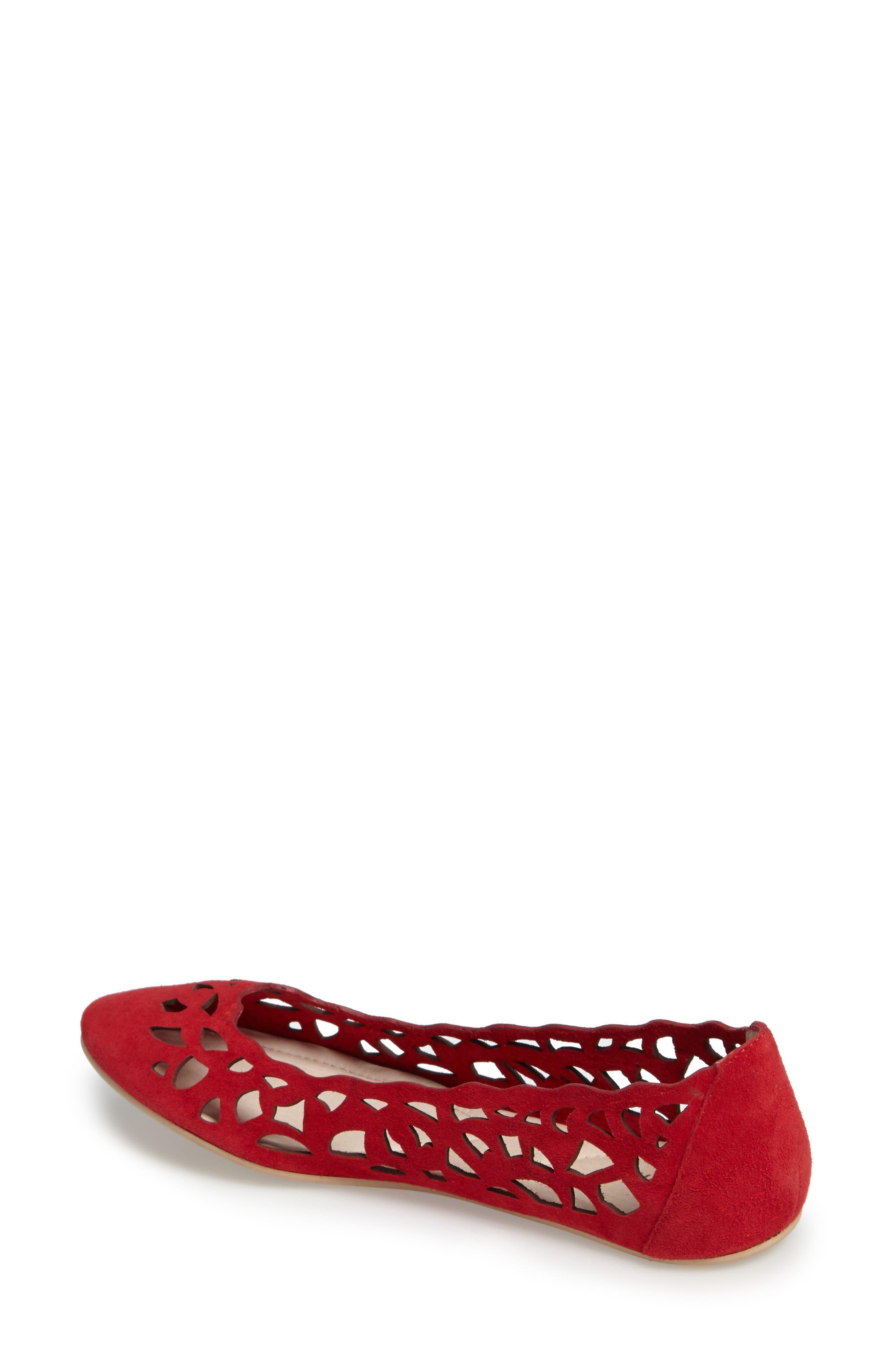 Alternate Image 2  - Sudini Sonya Perforated Flat (Women)