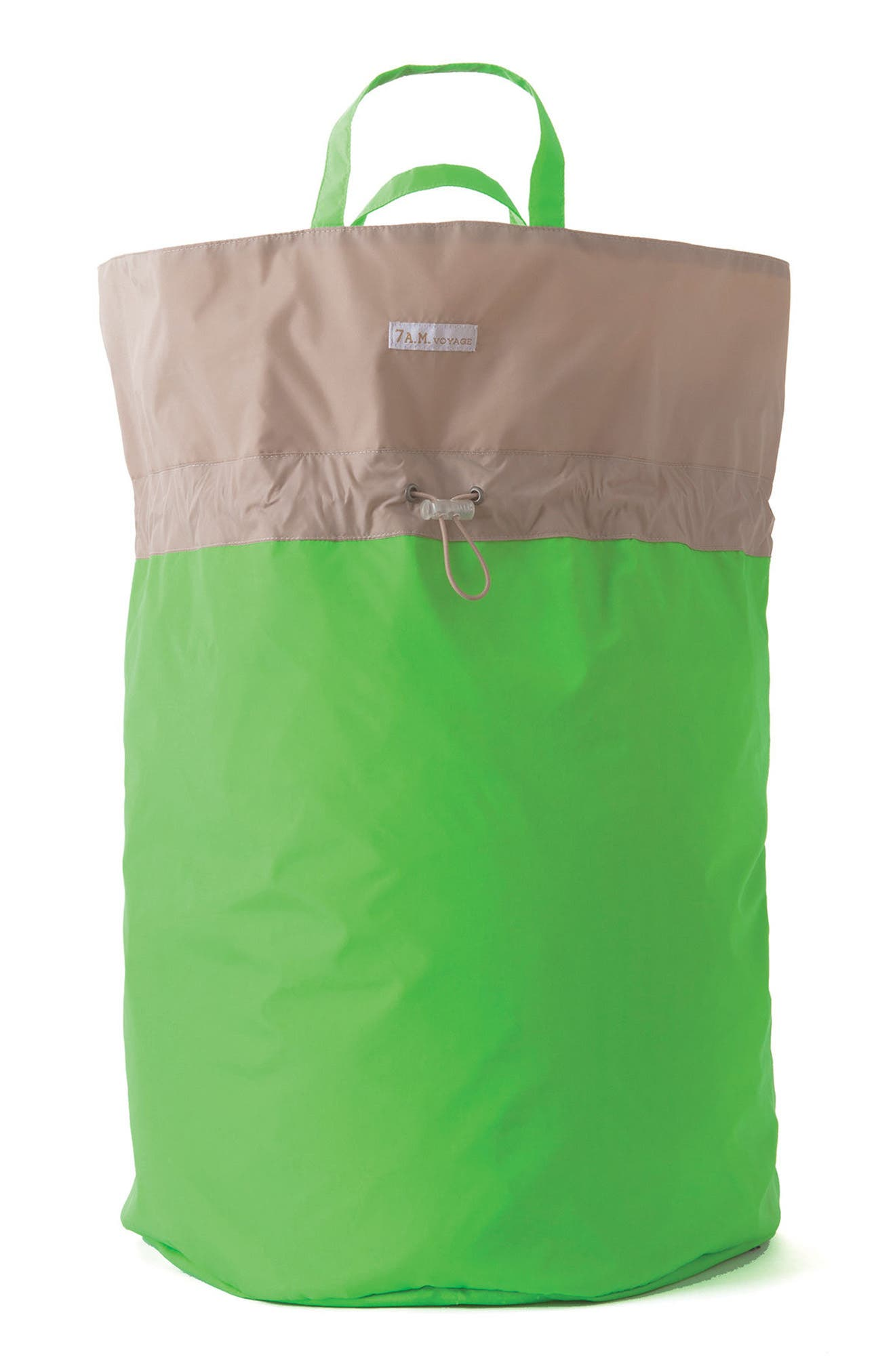 Water Repellent Hamper Bag,                             Main thumbnail 1, color,                             Neon Green Beige