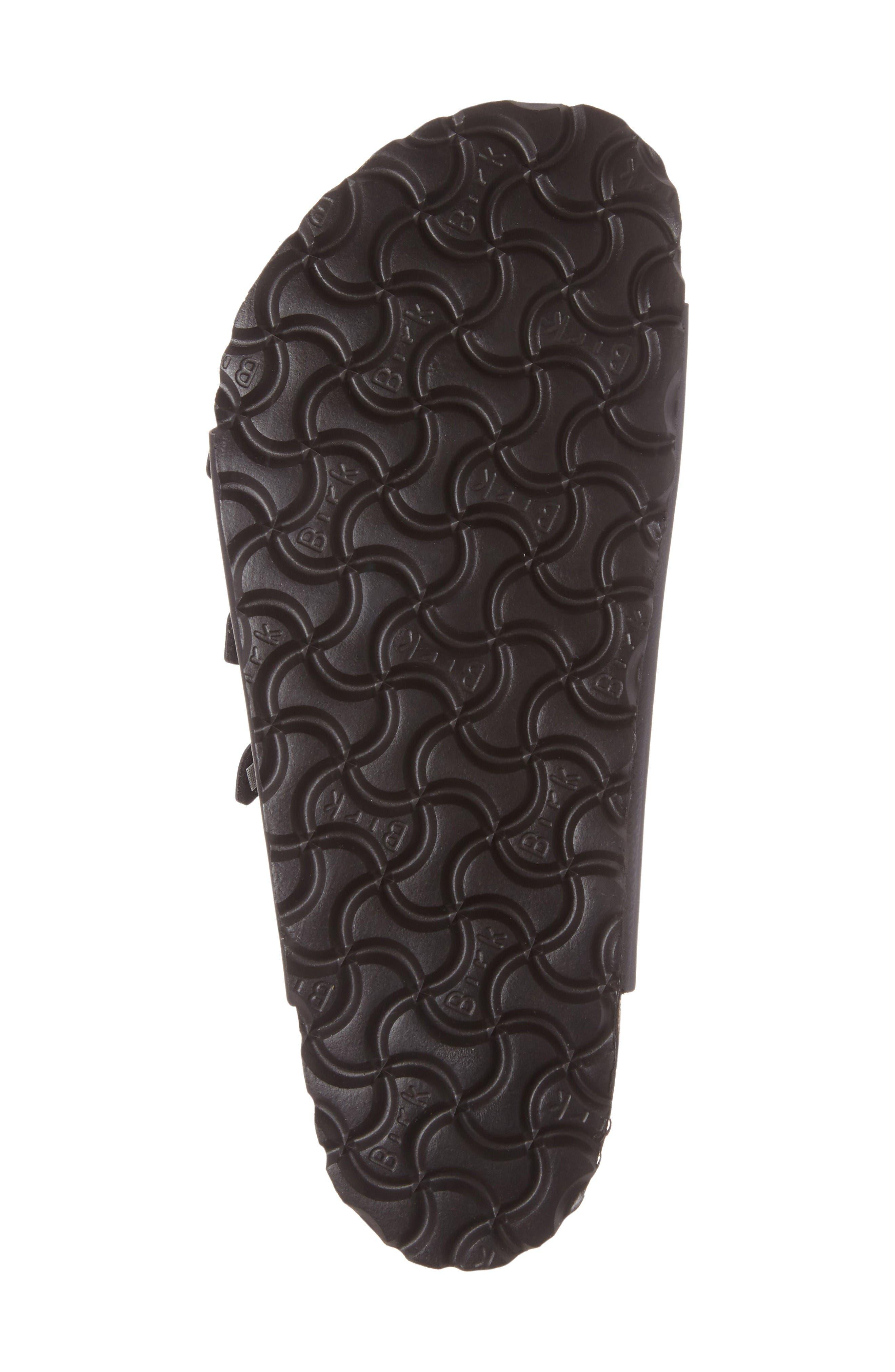 Florida Soft Footbed Slide Sandal,                             Alternate thumbnail 4, color,                             Black
